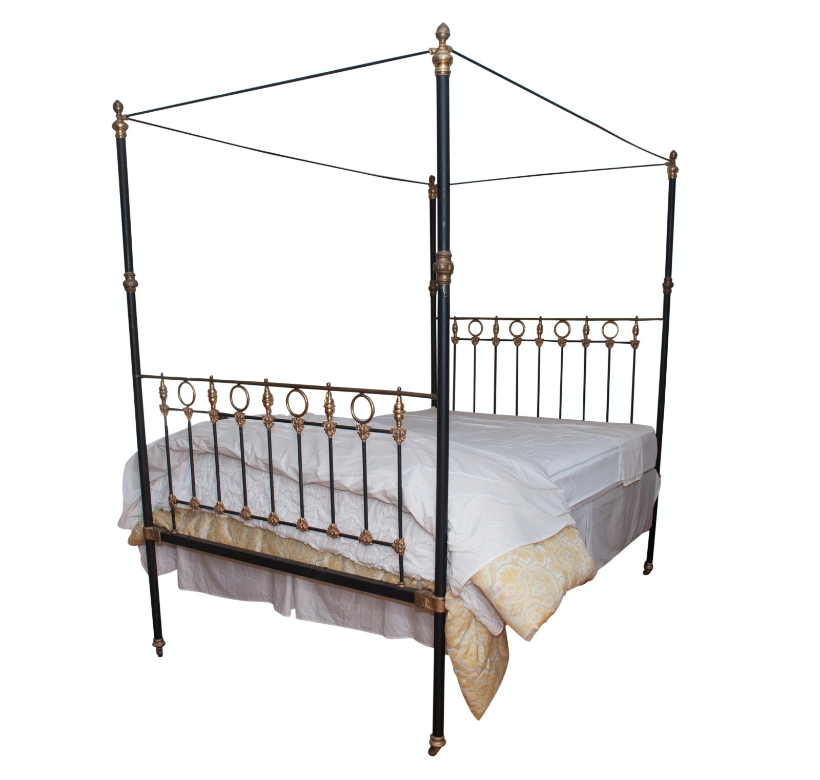 Cast Iron Queen-Size Canopy Bed