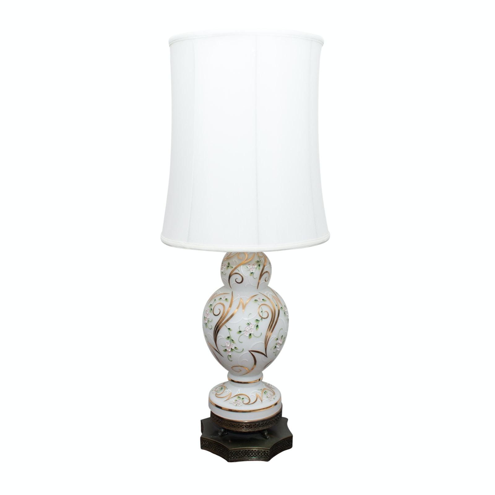 Vintage Hand-Painted Table Lamp
