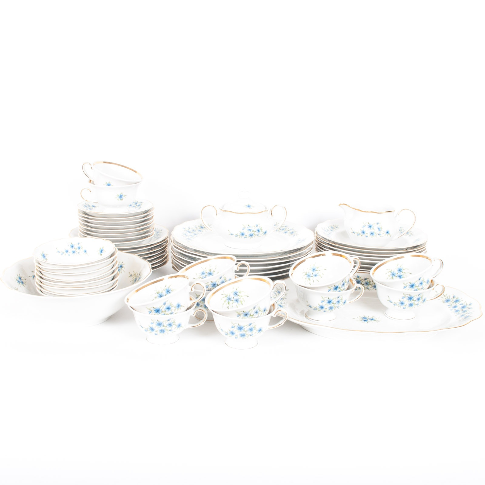 "Eight Favolina ""Candia"" Six-Piece Place Settings"