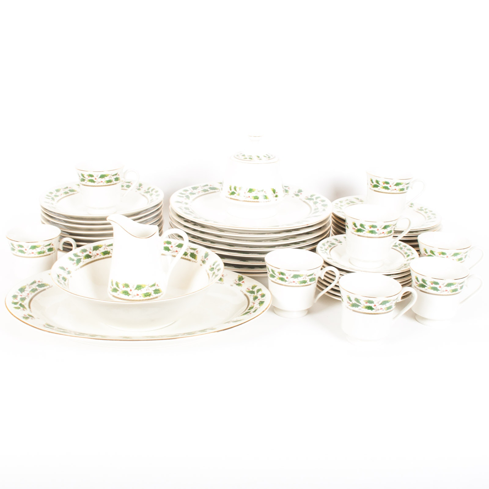 """Eight Home for the Holidays """"Holly Holliday"""" Five-Piece Place Settings"""