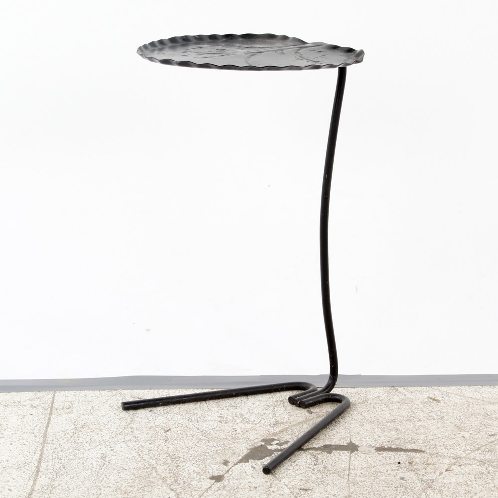 Lily Pad-Shaped Metal Side Table by Salterini