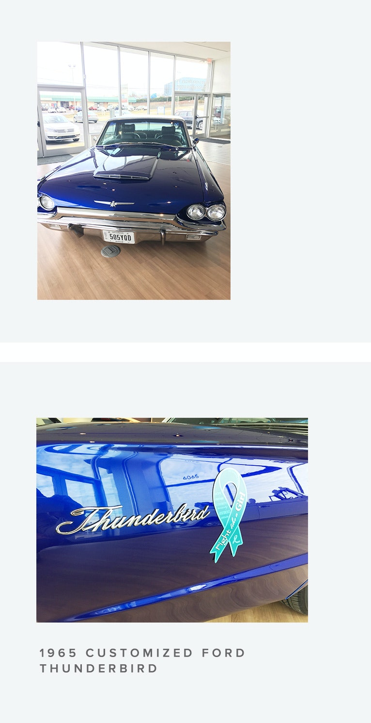 Seller Story: In Memory of Debbie Walter: 1965 Thunderbird for the Ovarian Cancer Alliance