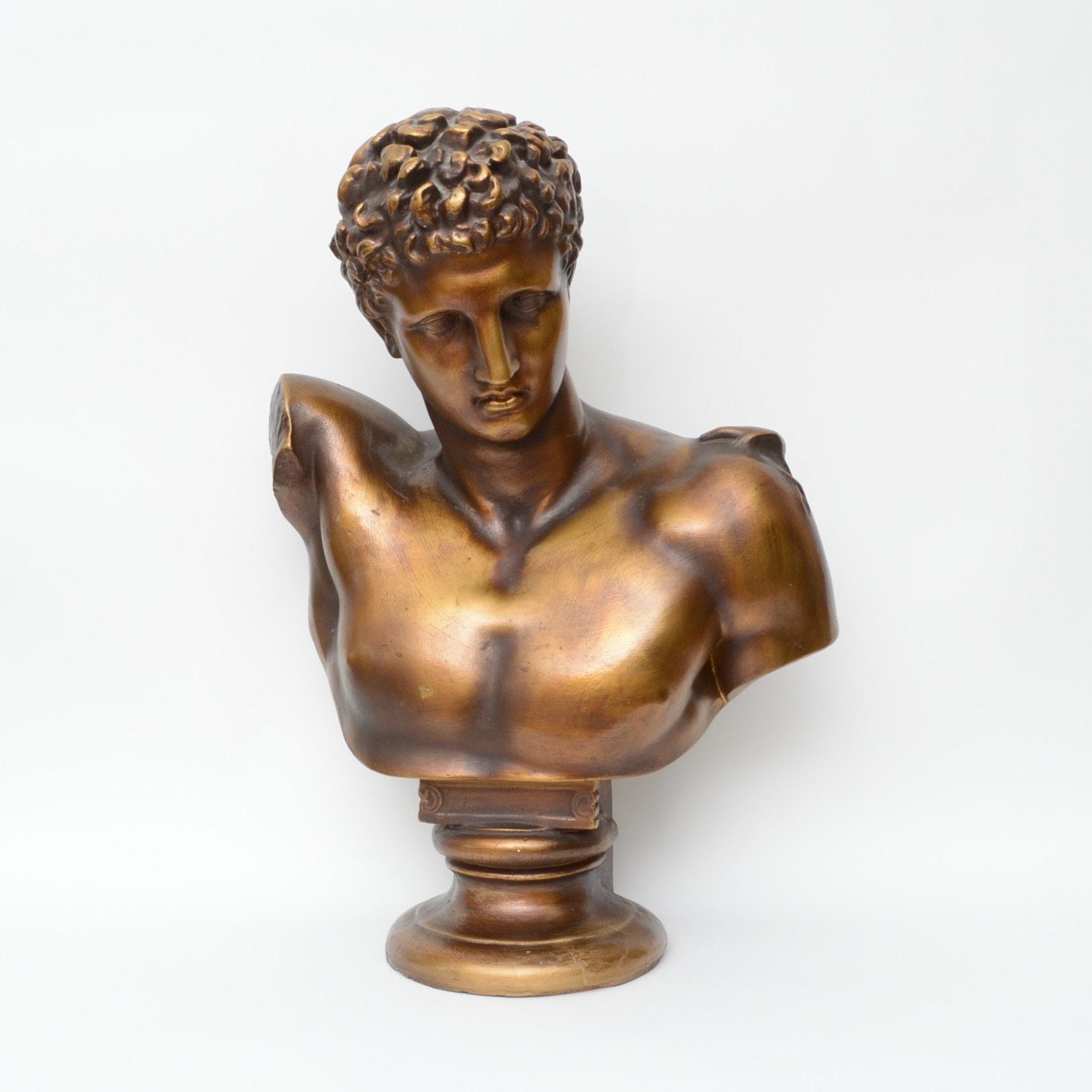 Vintage Hermes Plaster Bust