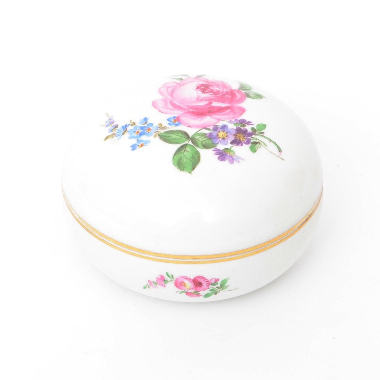 Meissen Porcelain Trinket Box
