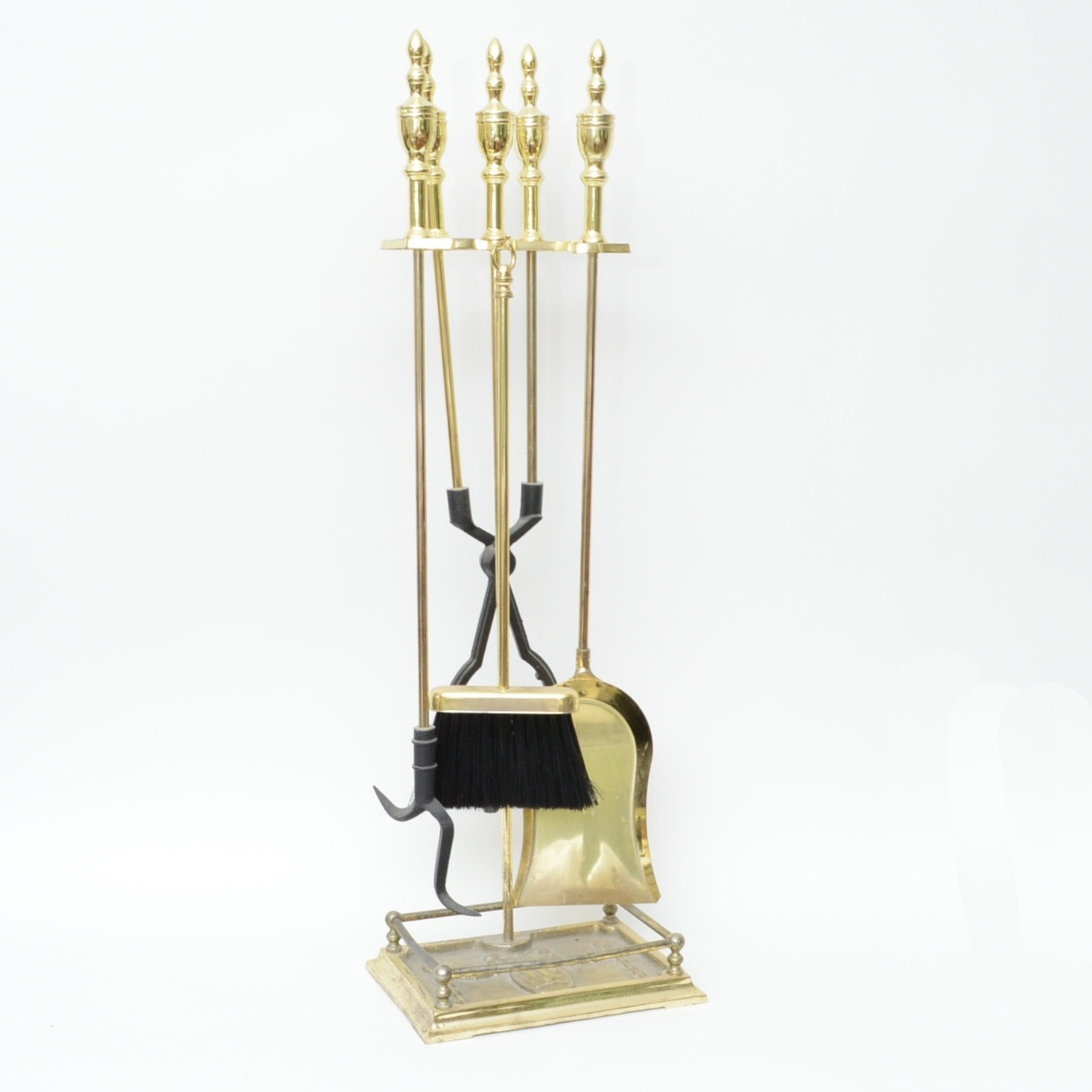 Brass Fireplace Tool Set