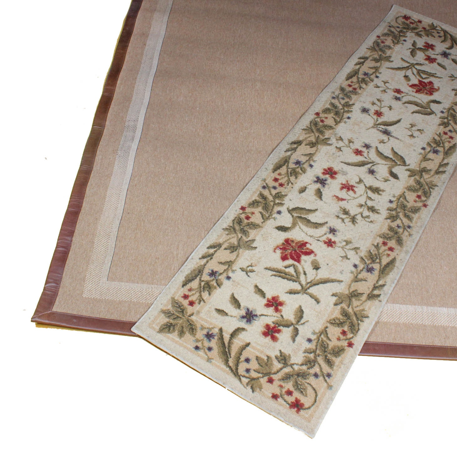 Handwoven Area Rug and Power Loomed Runner