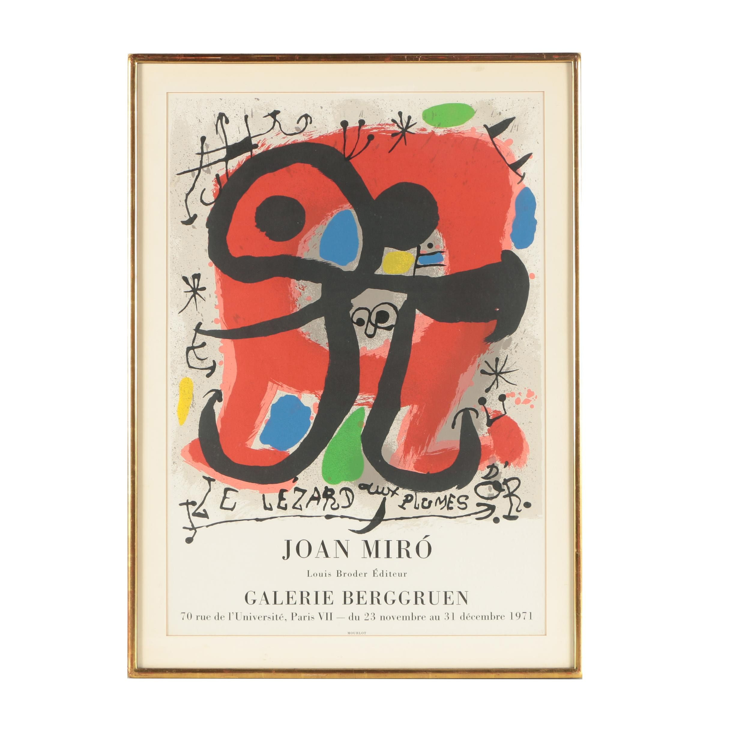 Joan Miró Lithographic Exhibition Poster