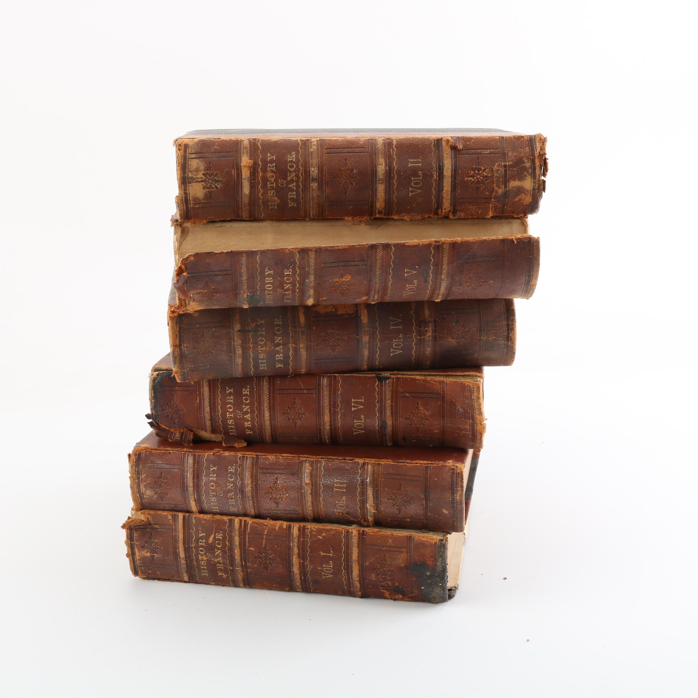 """Mid 19th Century Six Volume Set of """"A Popular History of France"""""""