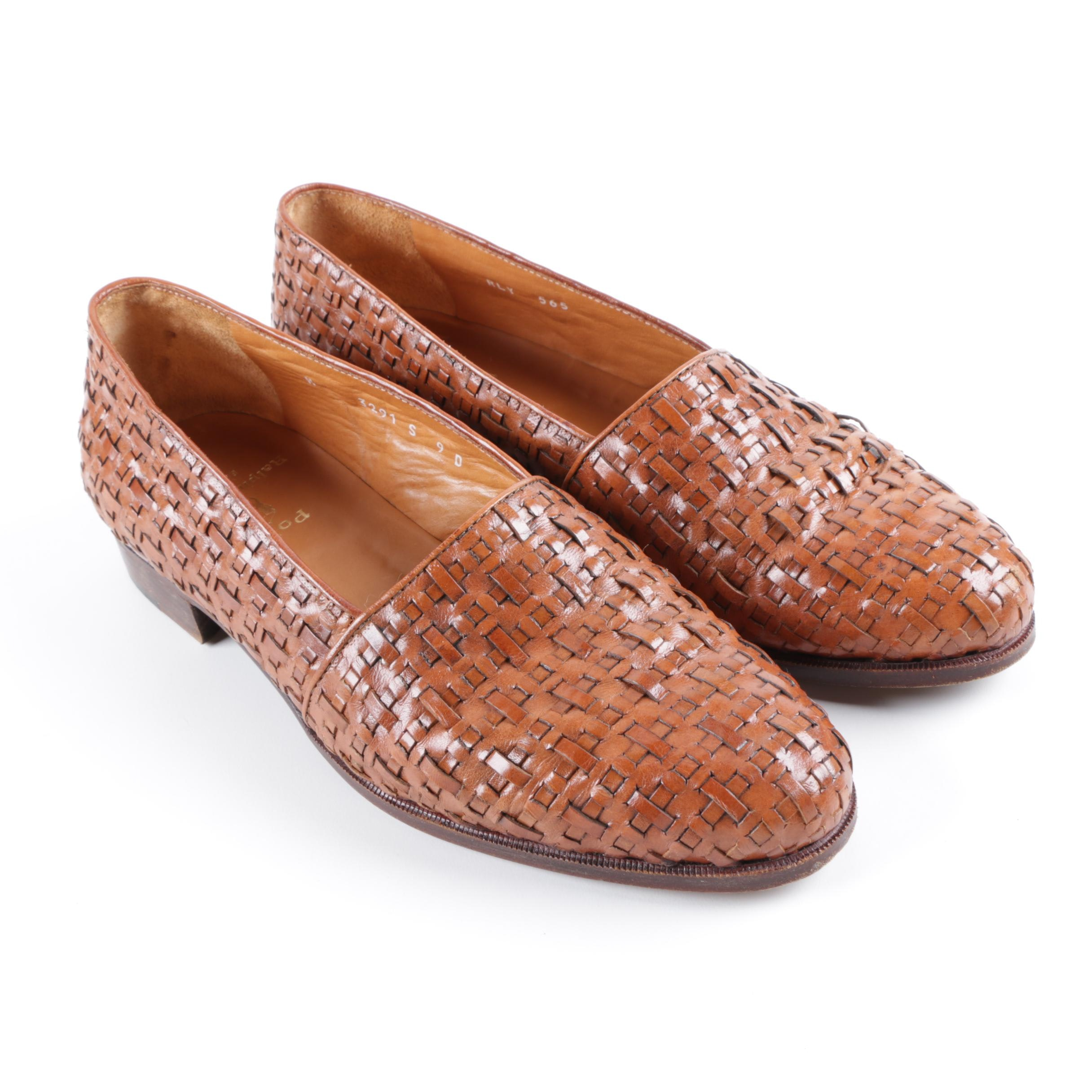 Men's Polo Ralph Lauren Brown Woven Leather Loafers