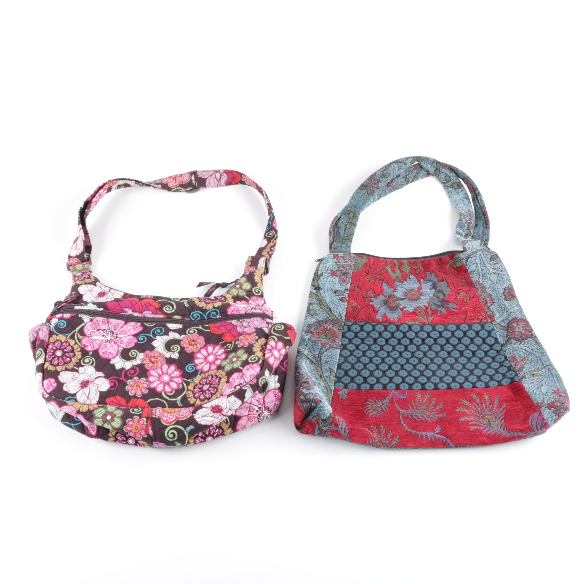 Vera Bradley and Mary Lynn O'Shea Fabric Shoulder Bags