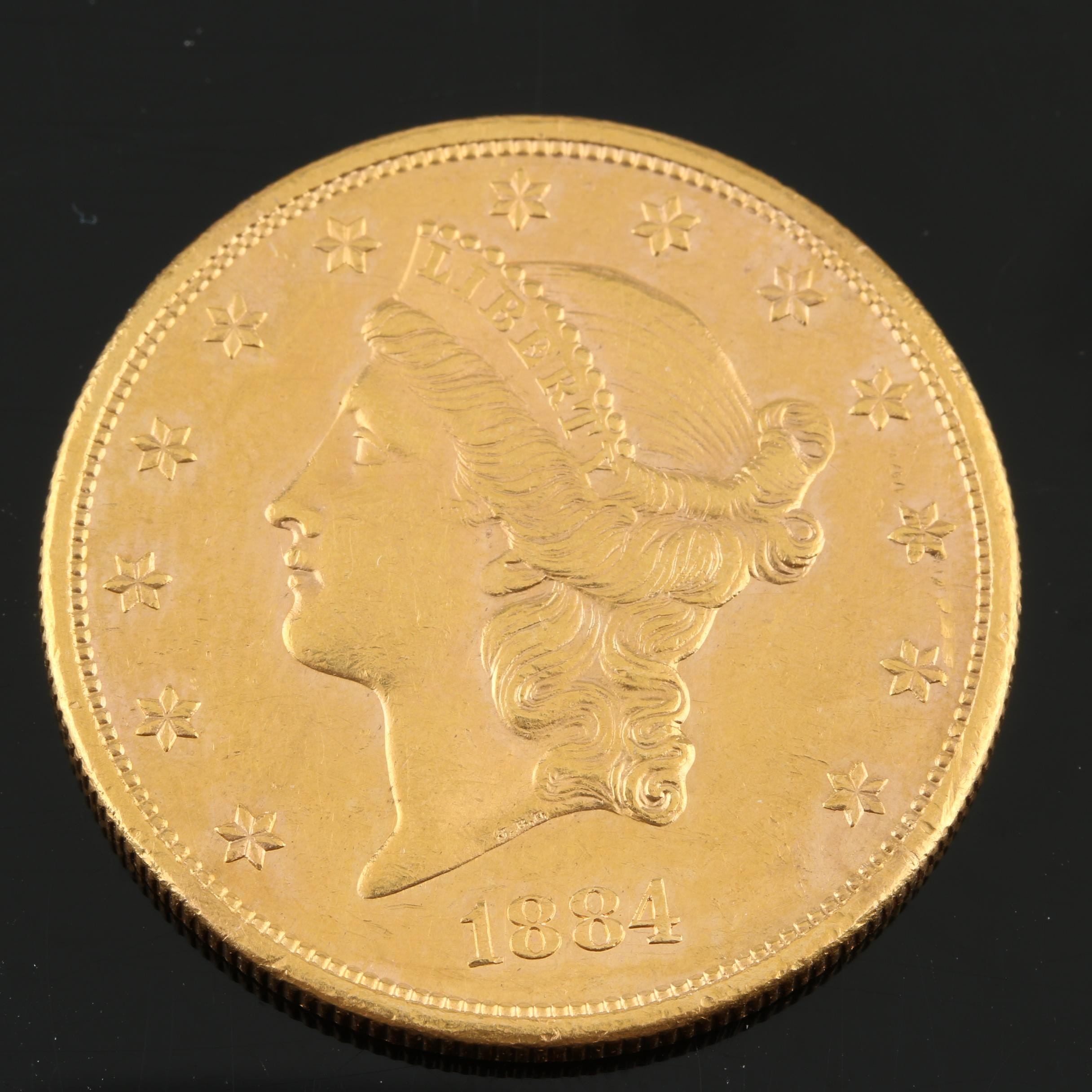 1884-S Liberty Head $20 Gold Double Eagle