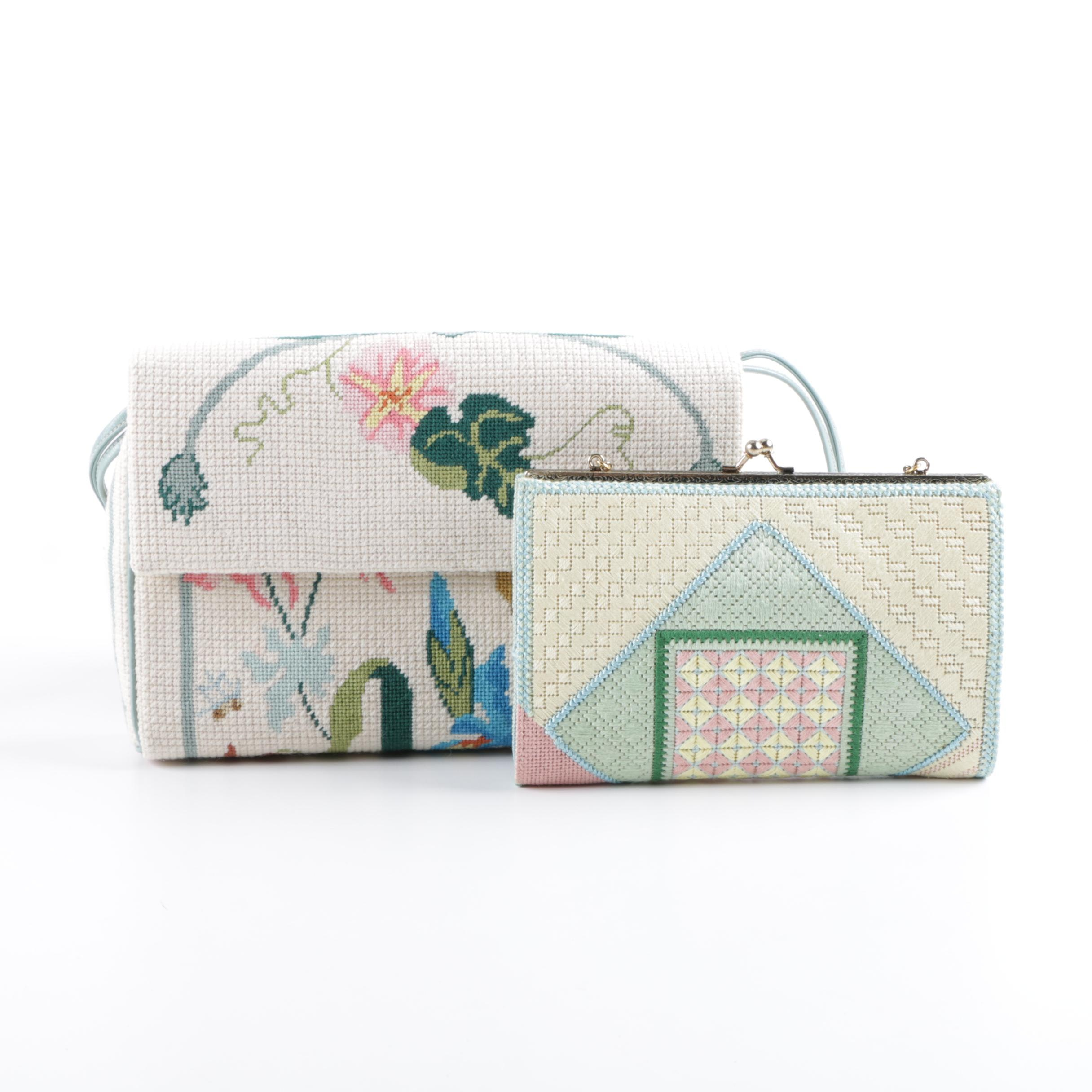 Vintage Cross-Stitch and Needlepoint Purses