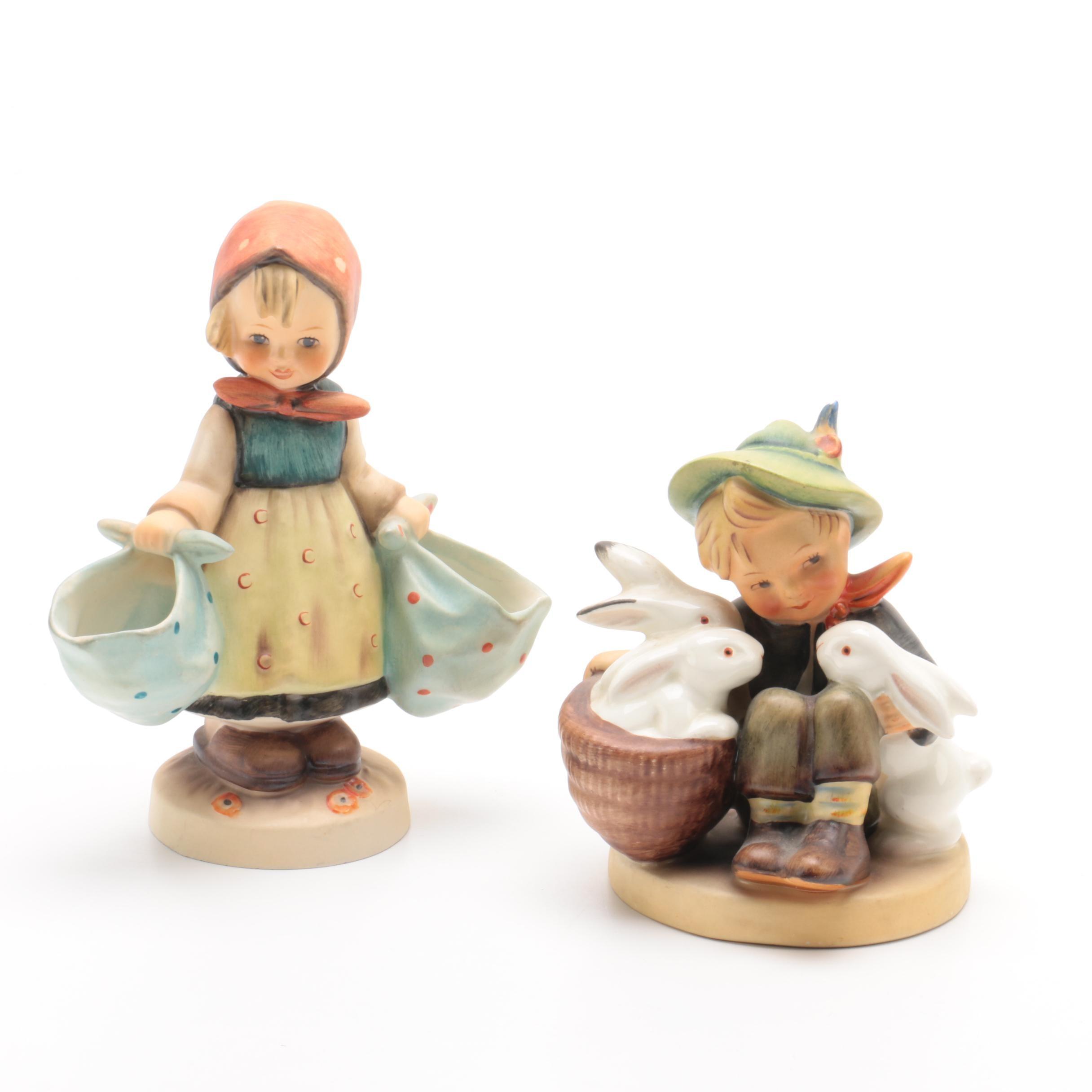 "Goebel Hummel TMK-2 ""Playmates"" and TMK-3 ""Mother's Darling"" Figurines"