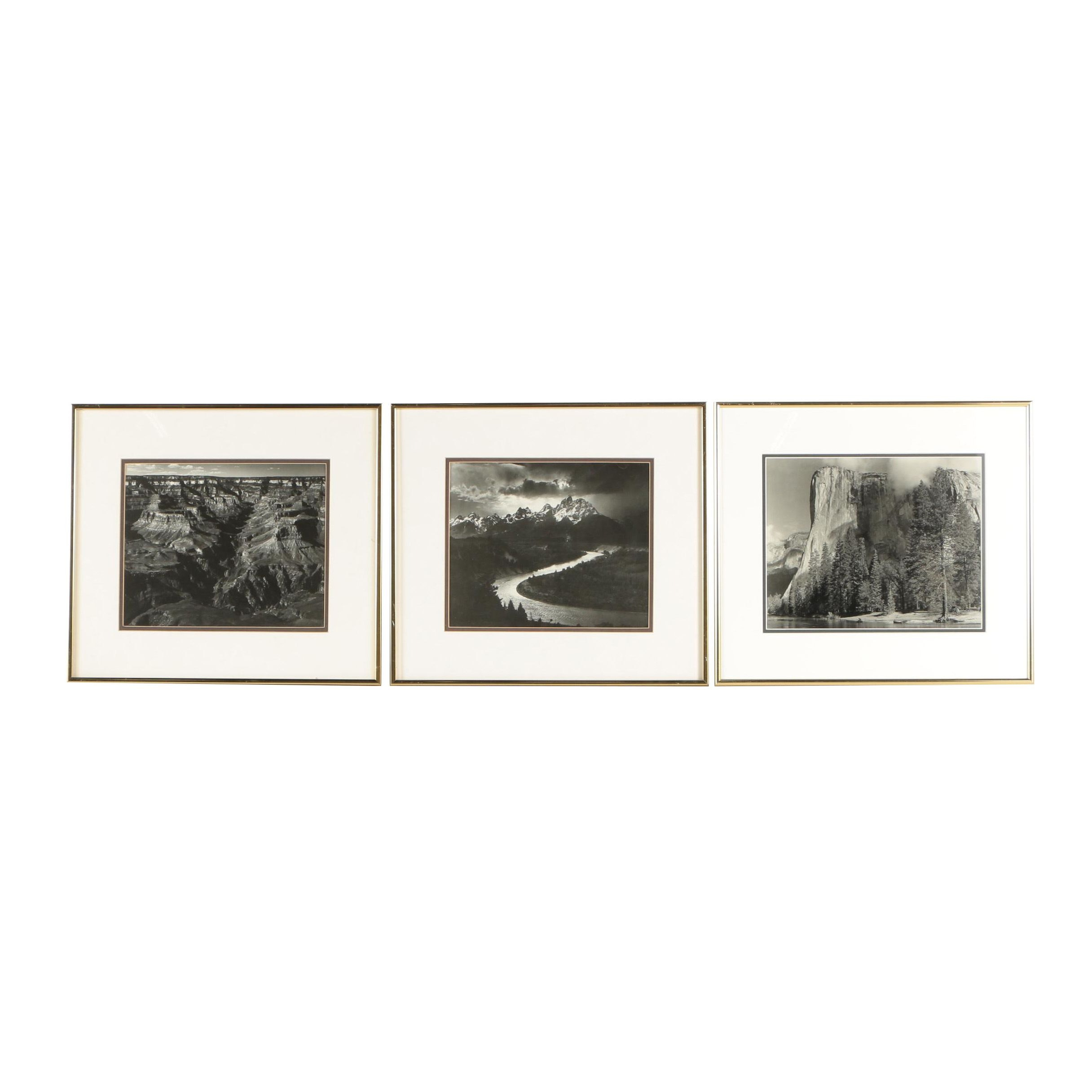 Offset Lithographs after Ansel Adams Photographs