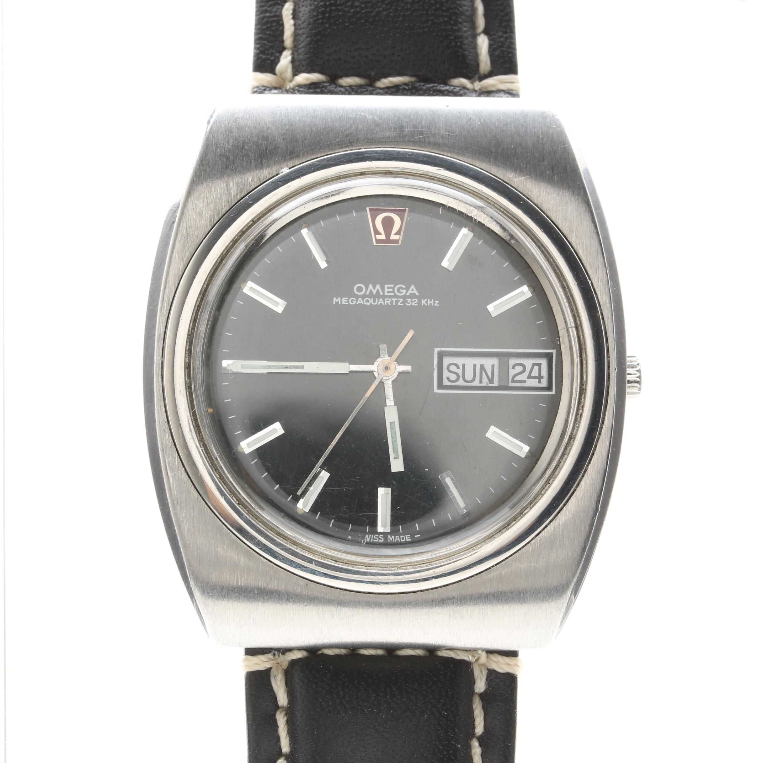 Omega Stainless Steel Wristwatch