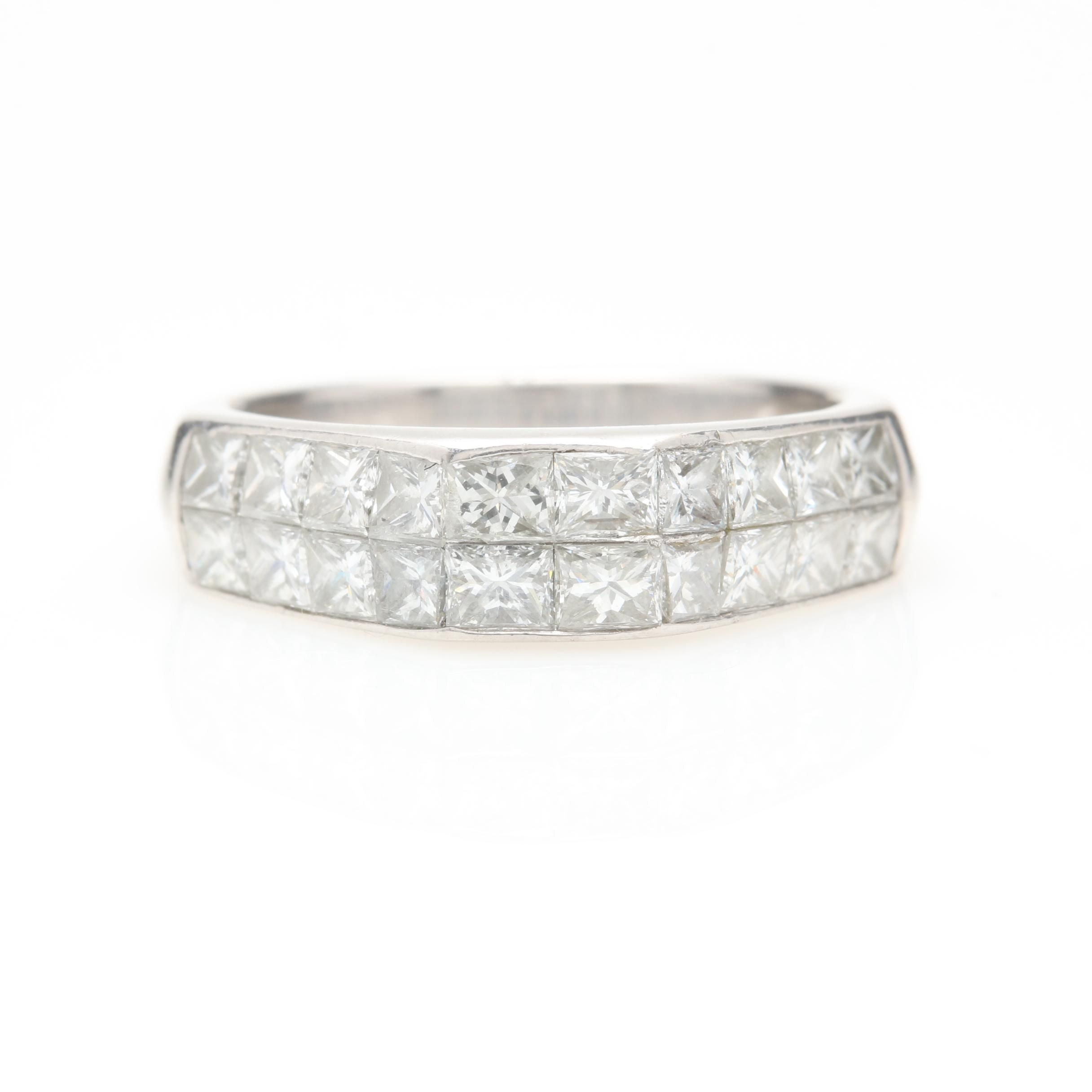 Platinum 1.52 CTW Diamond Ring