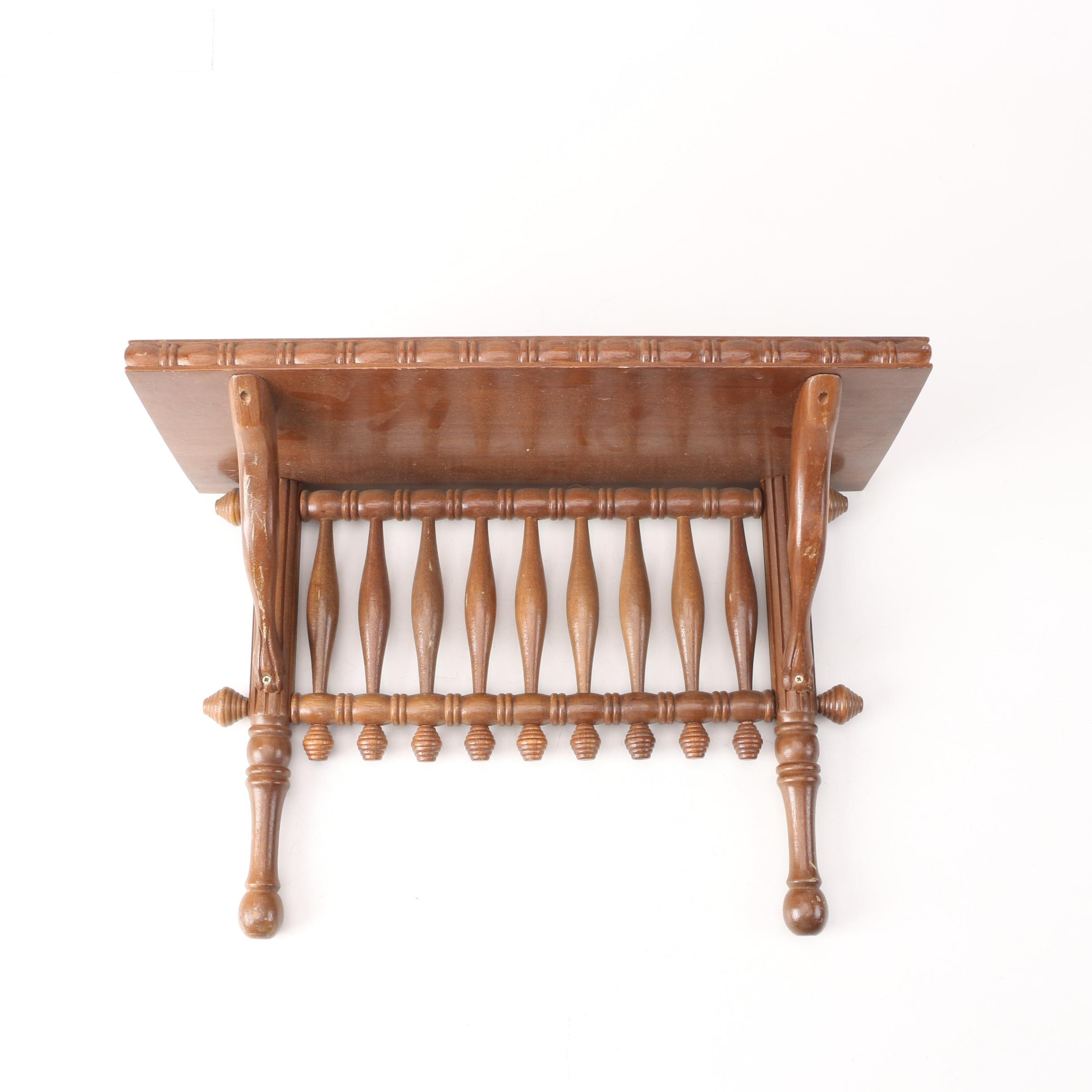 Country Style Wooden Wall Shelf