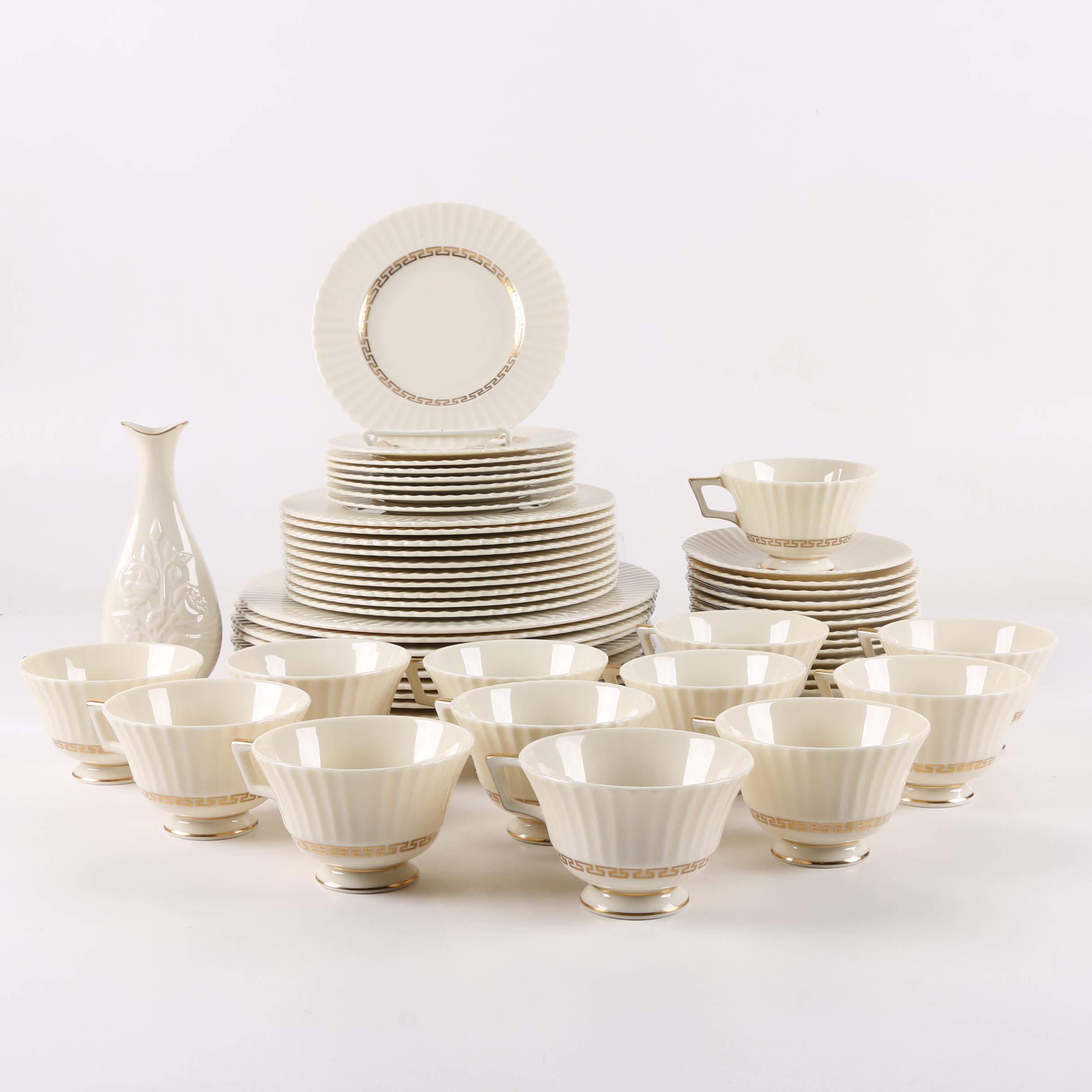 "Vintage Lenox ""Cretan"" Porcelain Tableware"