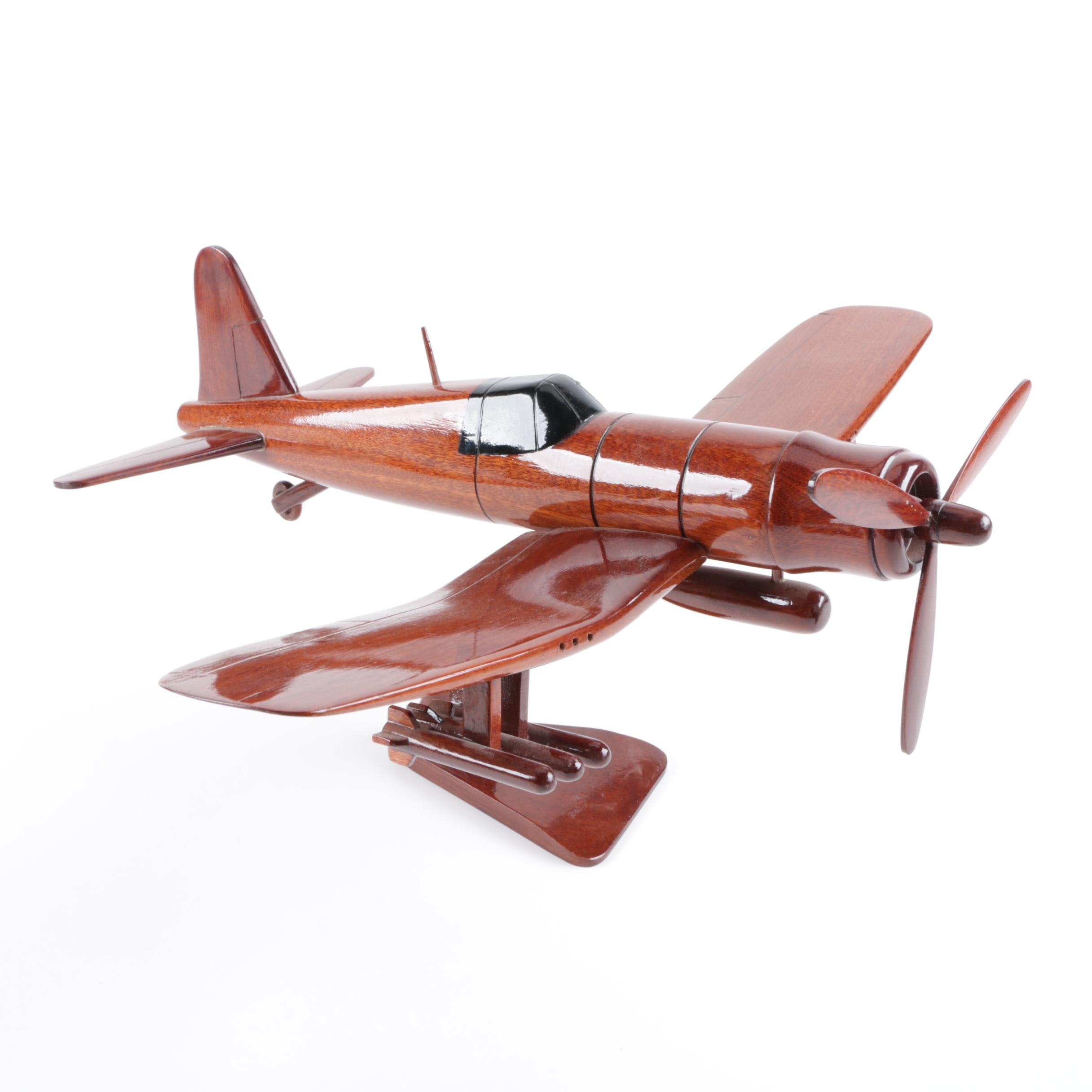WWII Style Wooden Model Airplane