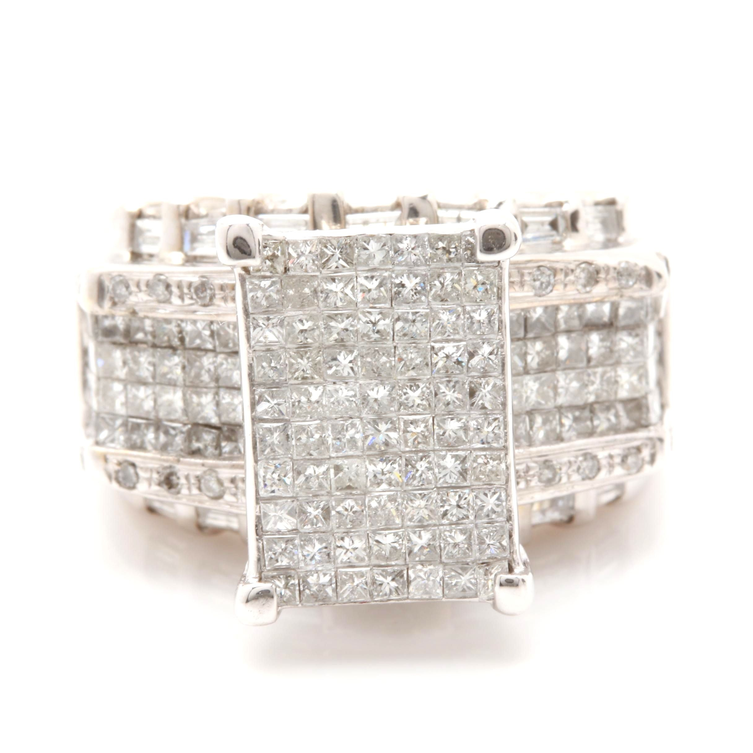 14K White Gold 2.16 CTW Diamond Ring