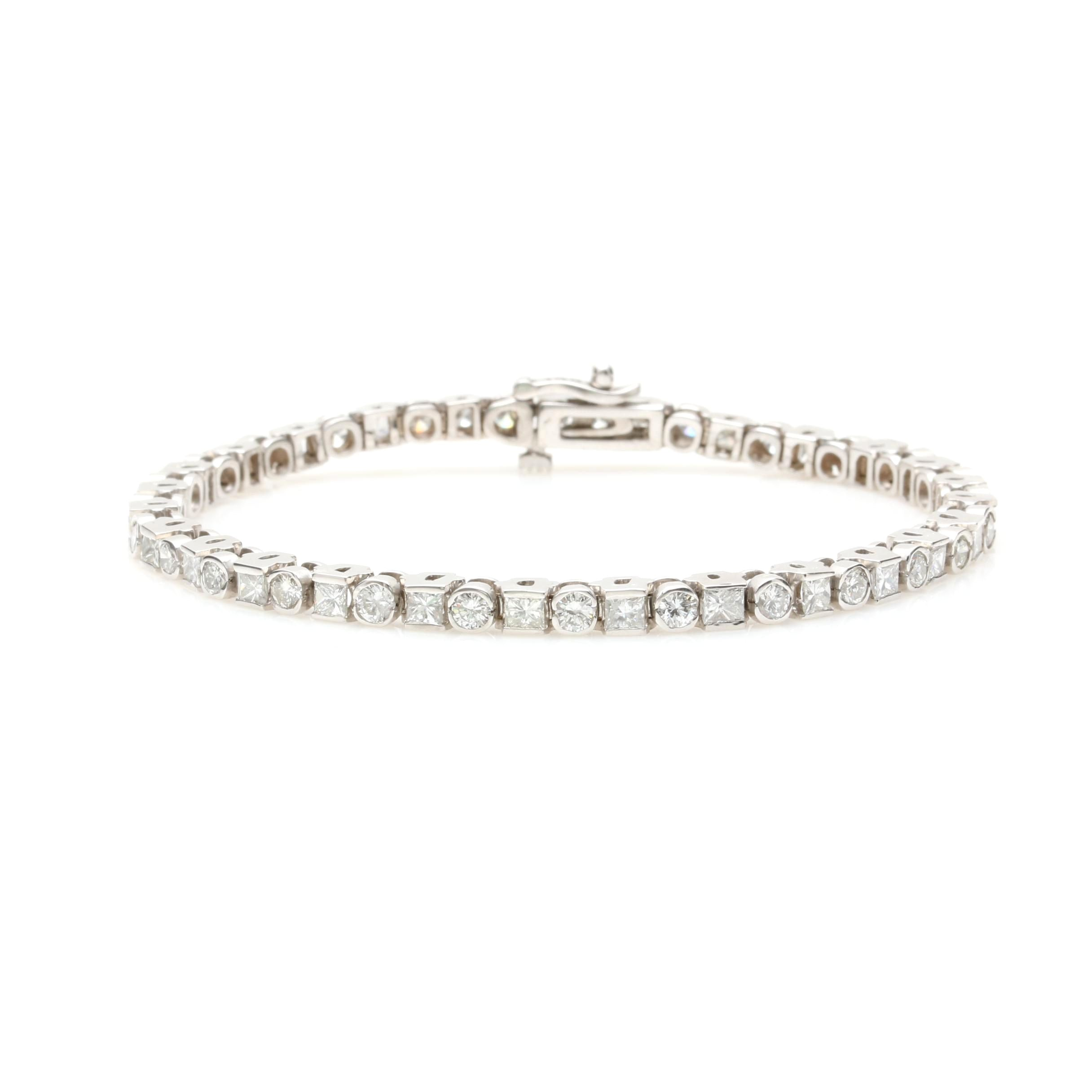 14K White Gold 5.08 CTW Diamond Bracelet
