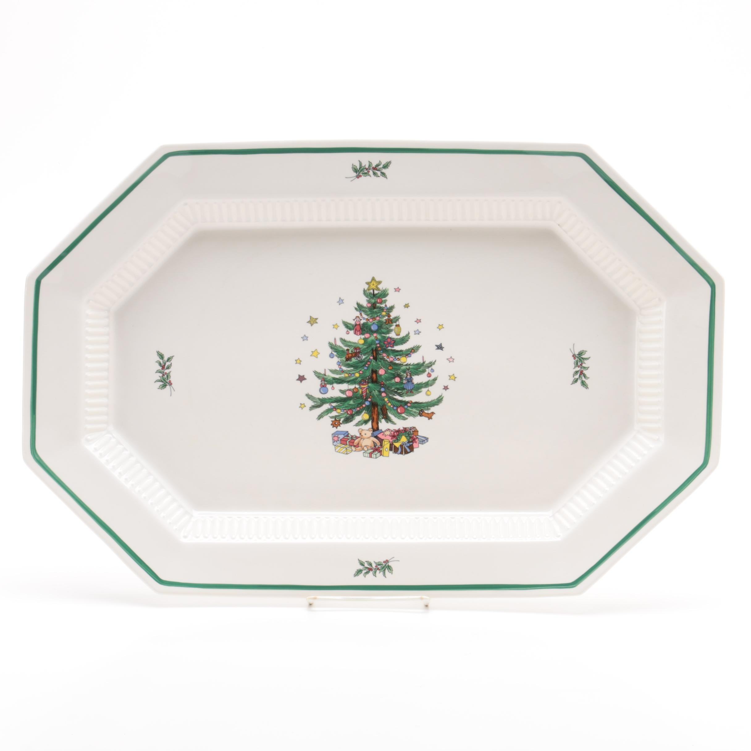 "Nikko ""Christmastime"" Porcelain Serving Tray"