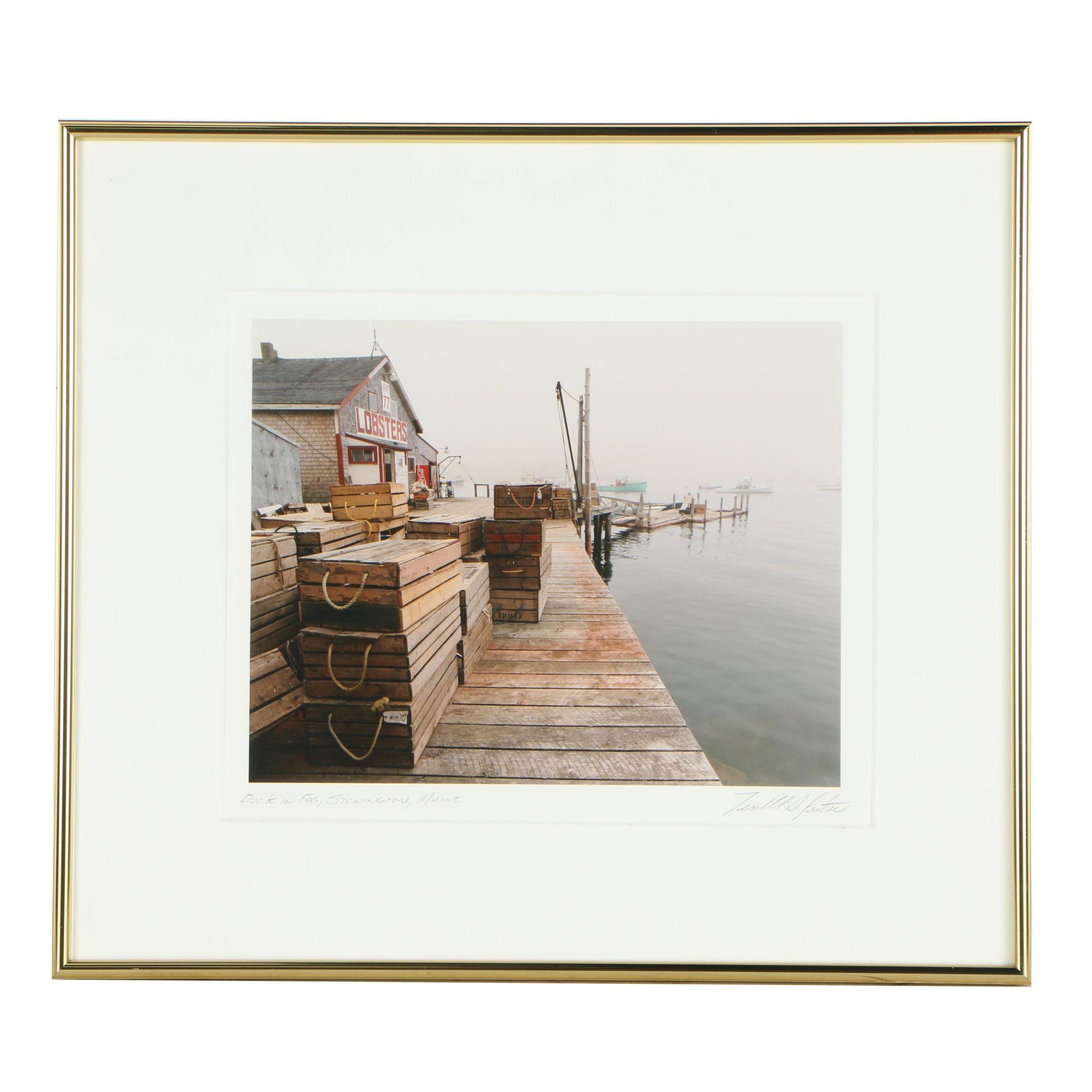 """Terrell S. Lester Photograph """"Dock in Fog"""""""