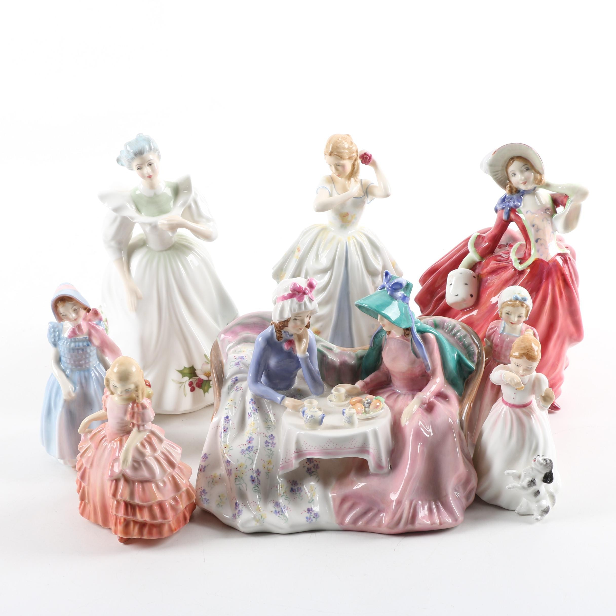 "Royal Doulton Porcelain Figurines Featuring ""Tinkle Bell"""