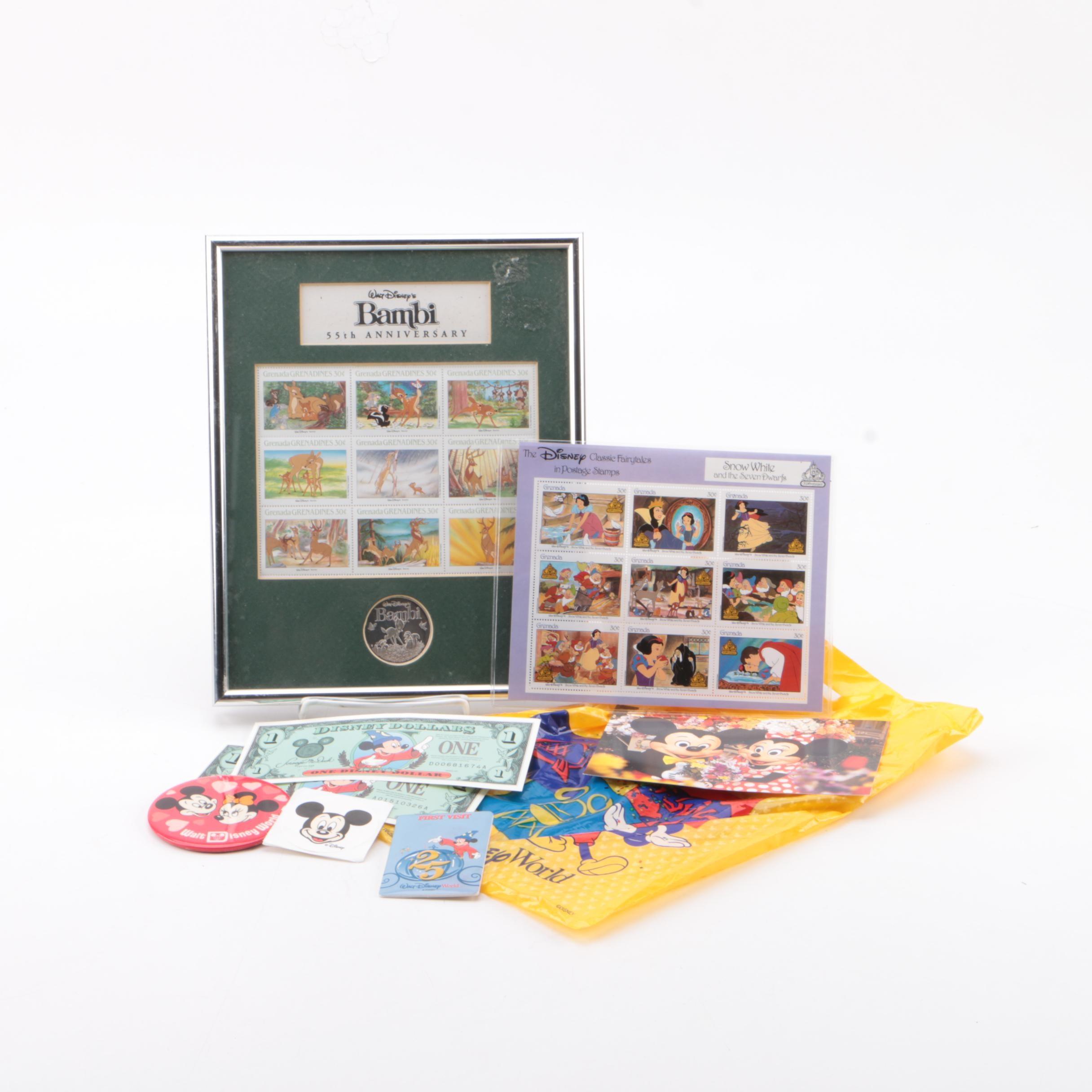 Disney Postage Stamps and Other Ephemera