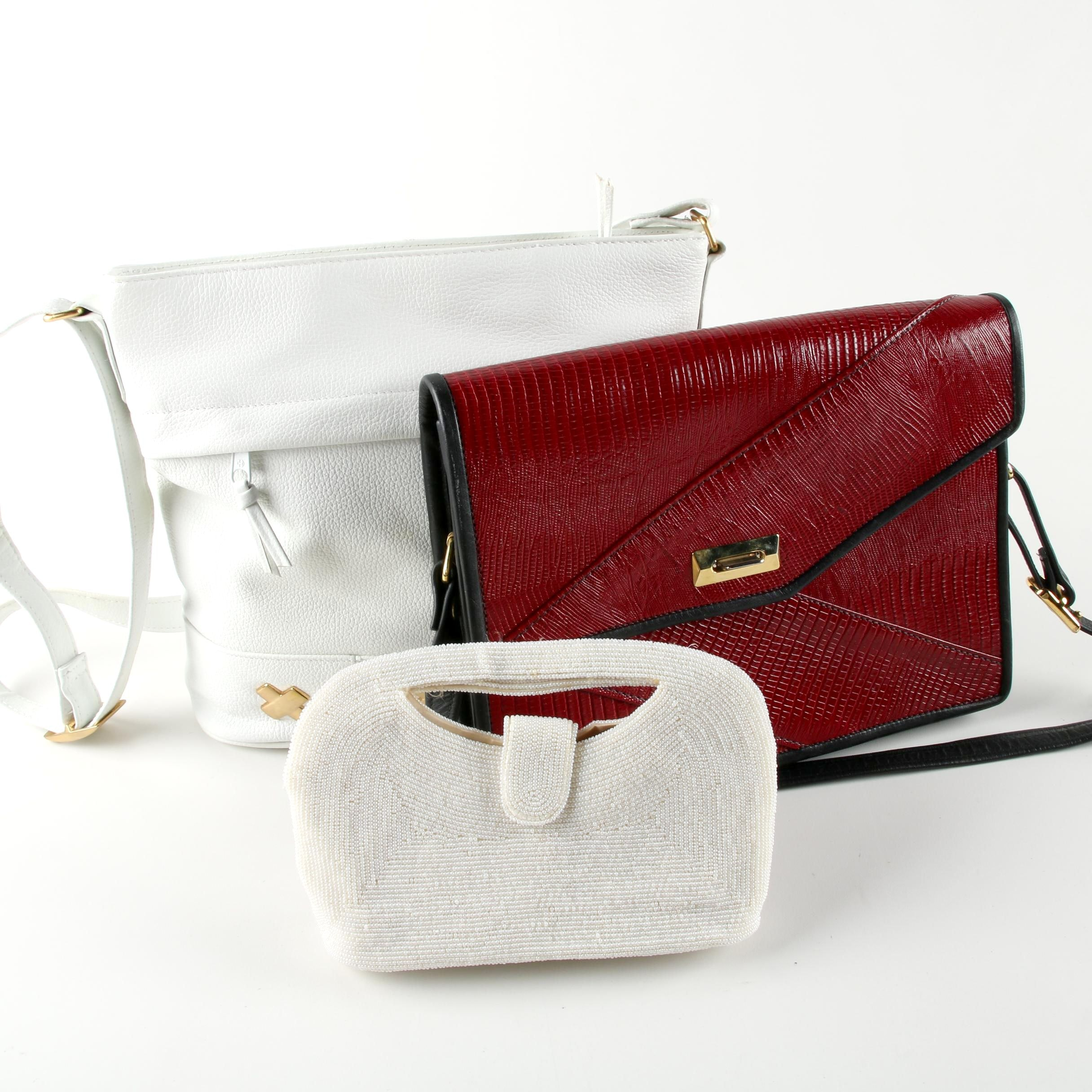 Leather and Beaded Handbags Including Richere