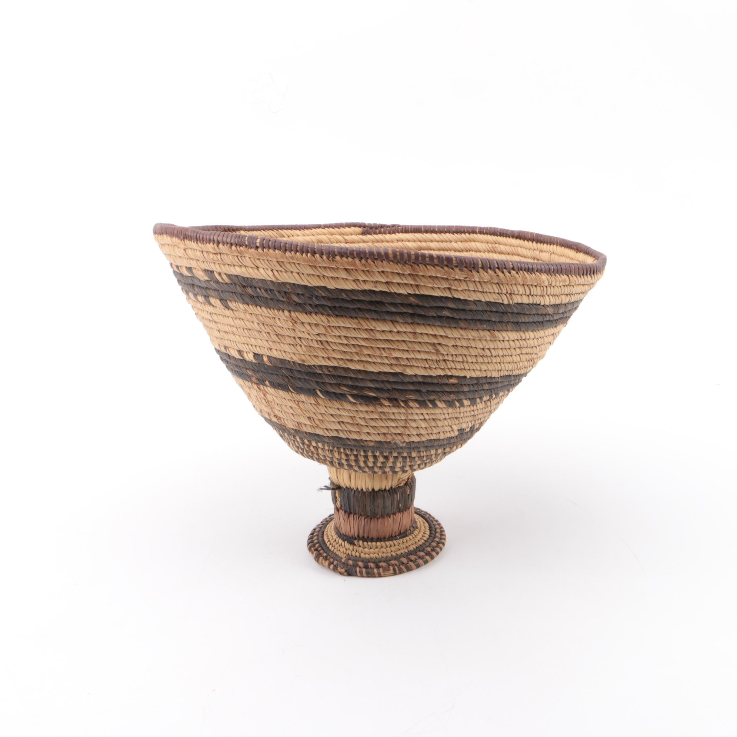Decorative Woven Footed Bowl