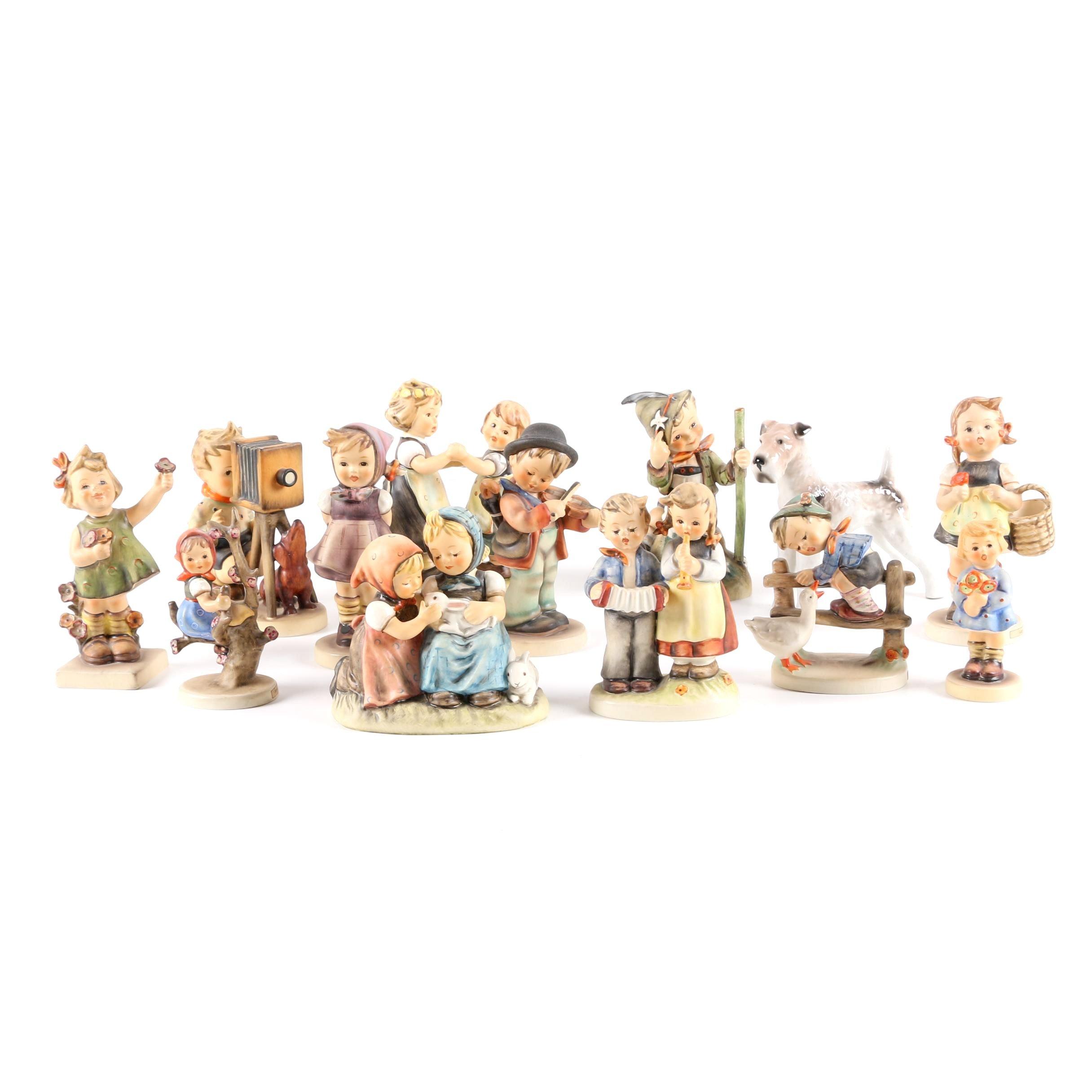 """Vintage Hummel Porcelain Figurines Featuring """"Easter Playmates"""""""