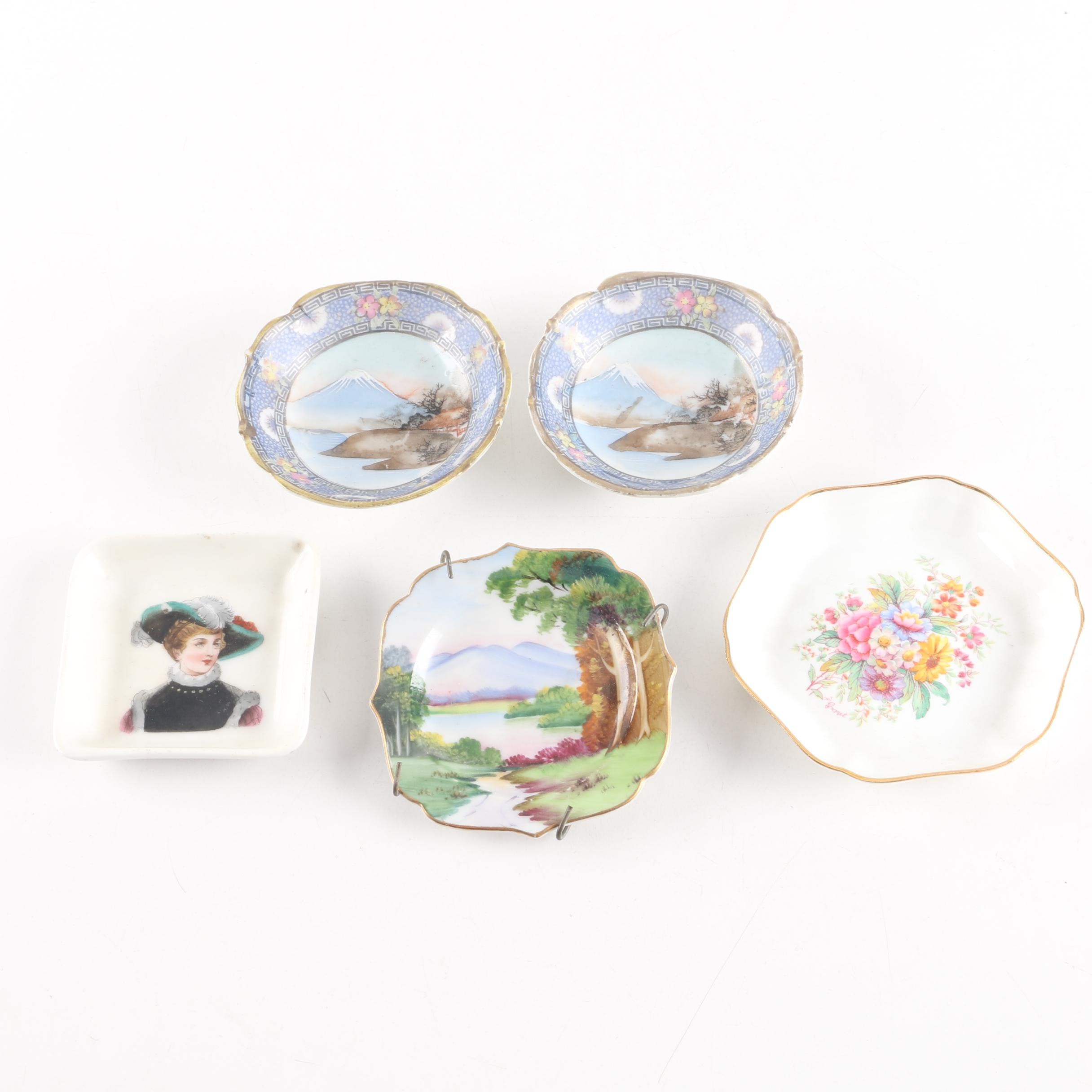 Porcelain Dishes Including Coalport and Nagoya Nippon