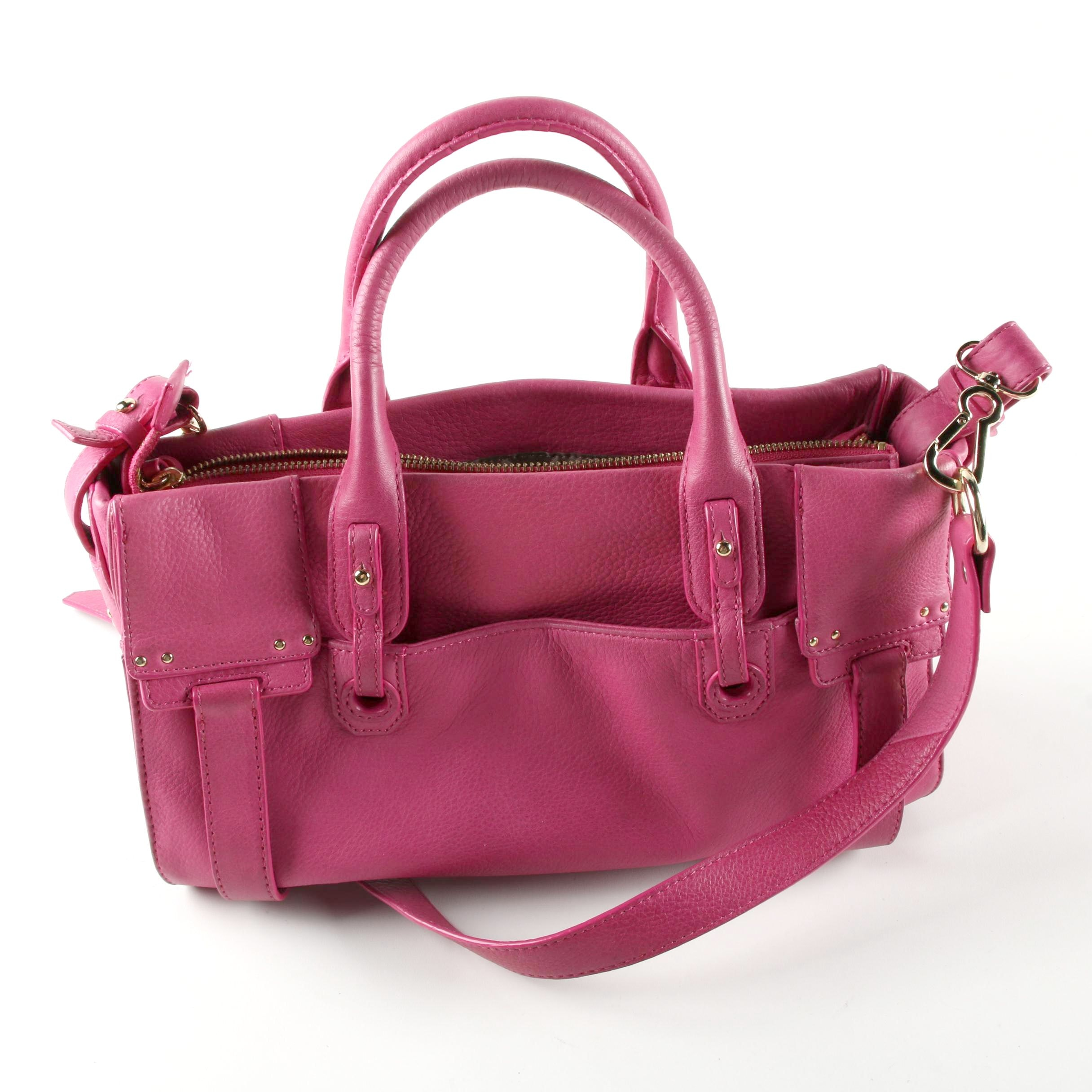 Vince Camuto Pink Leather Satchel