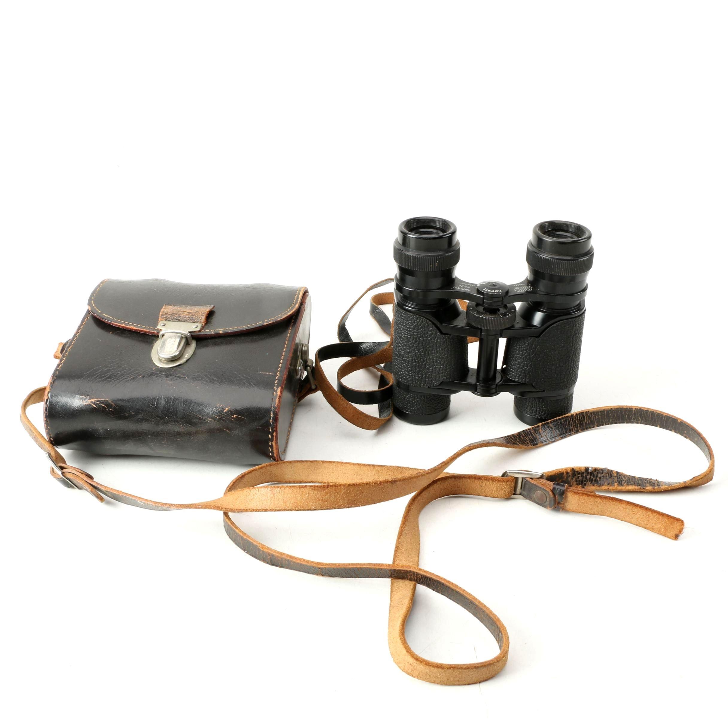 Vintage E. Leitz Wetzlar Amplivid 6x24 Binoculars with Leather Case