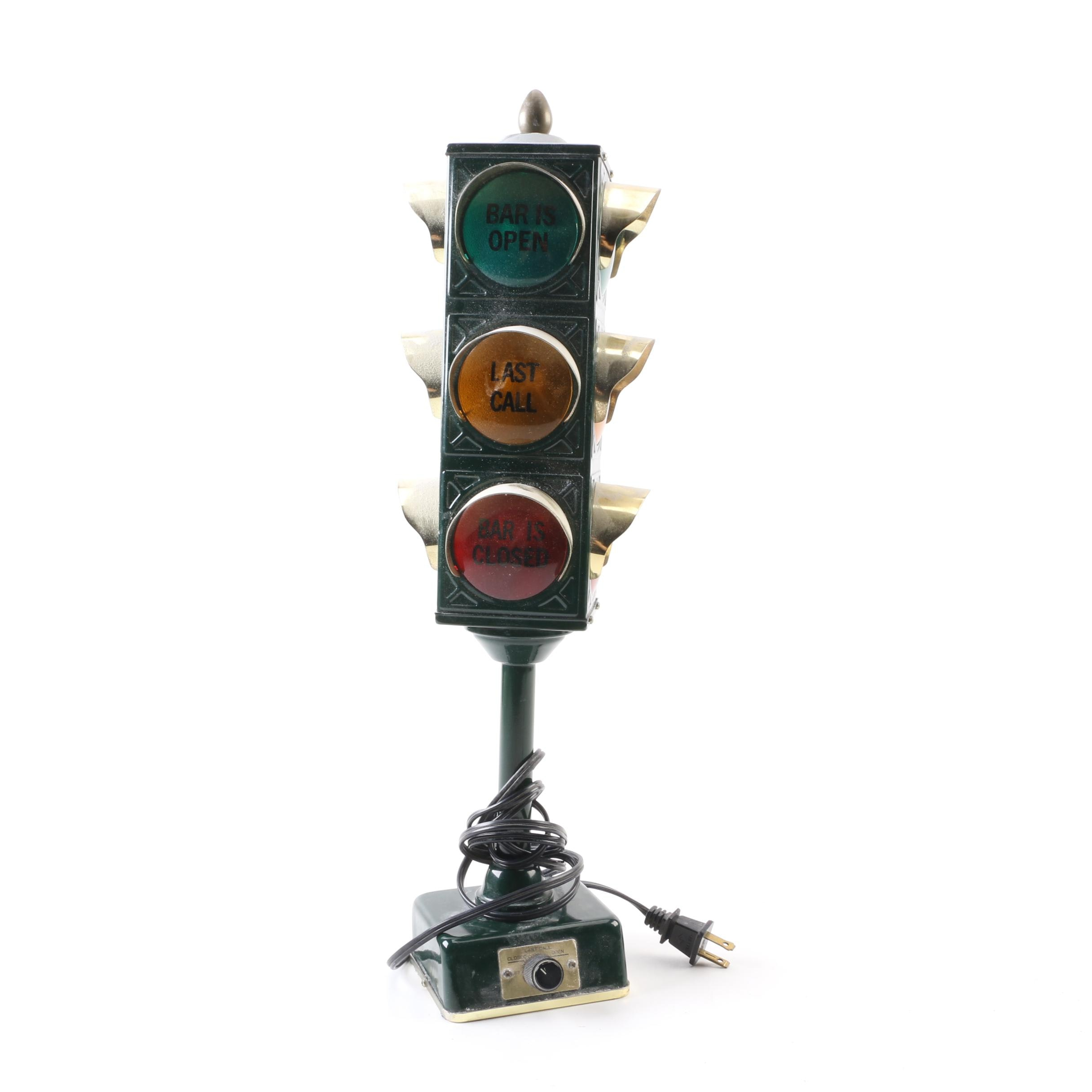 Vintage Novelty Traffic Signal Bar Lamp By Bu0026B Products ...