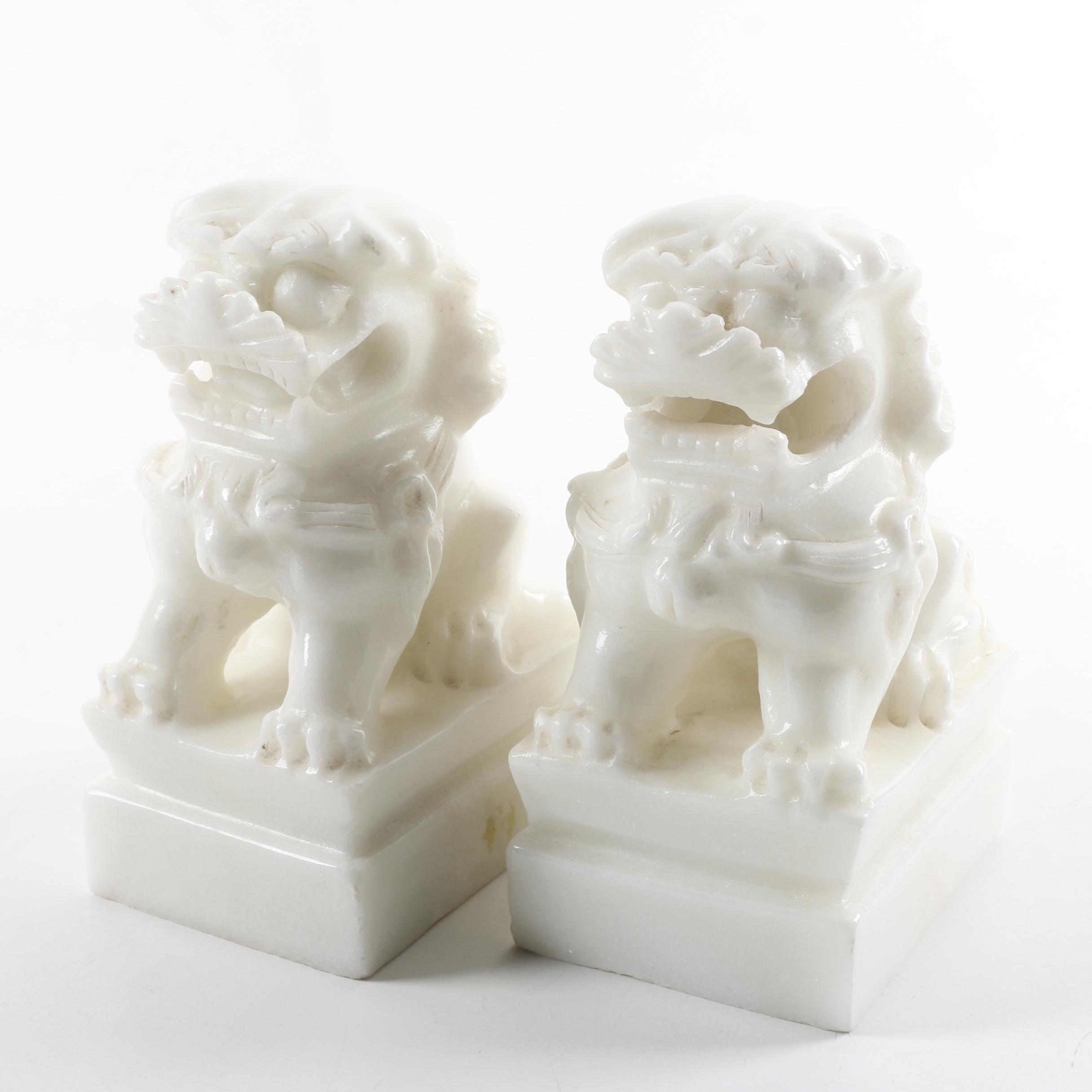 Marble Guardian Lion Bookends