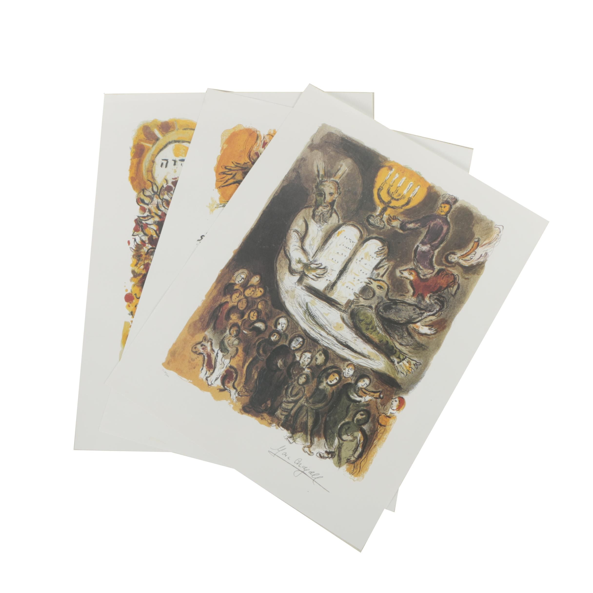 Offset Lithographs After Marc Chagall's Exodus Series