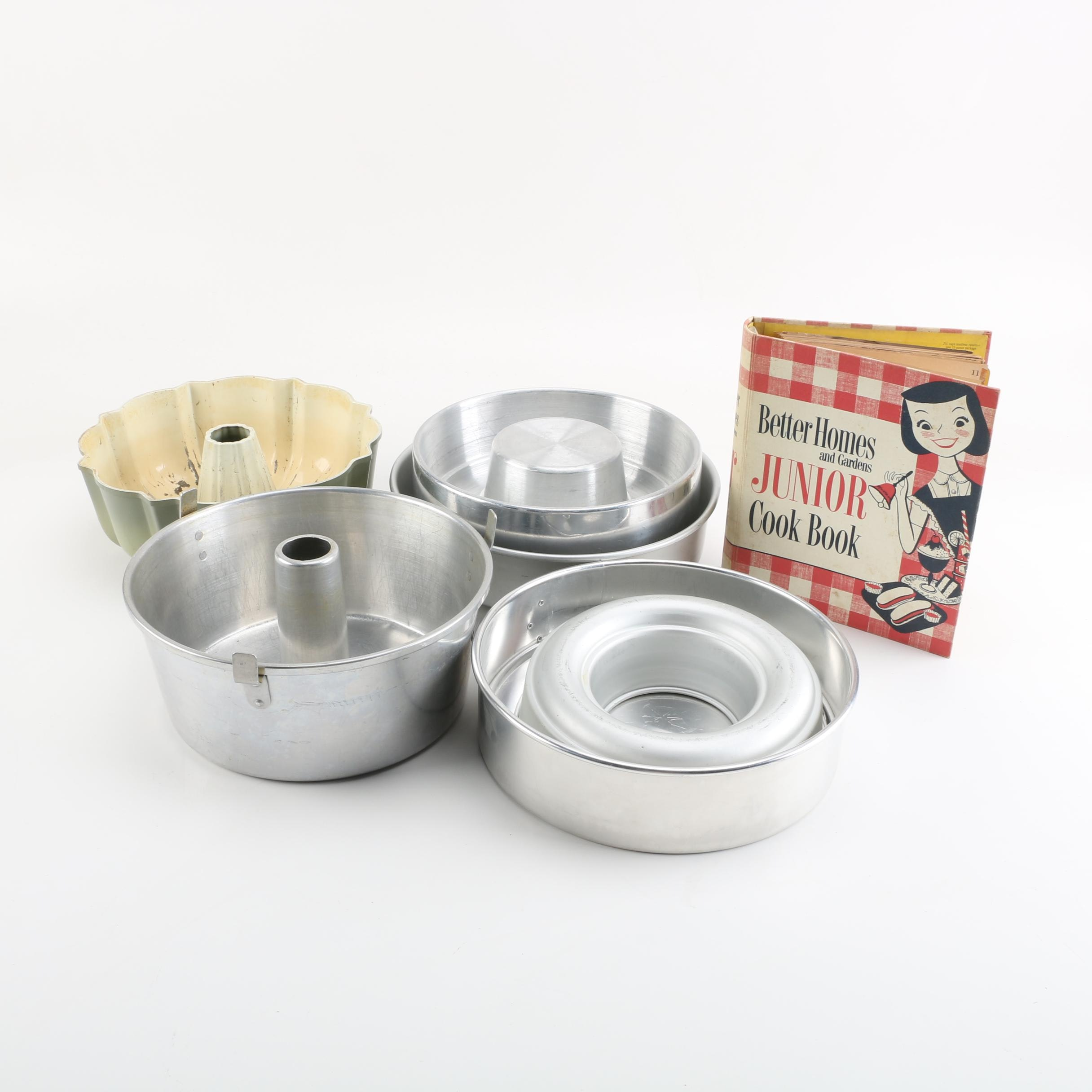 "Baking Molds Including ""Nordic Ware"" And Better Homes and Garden Junior Cookbook"