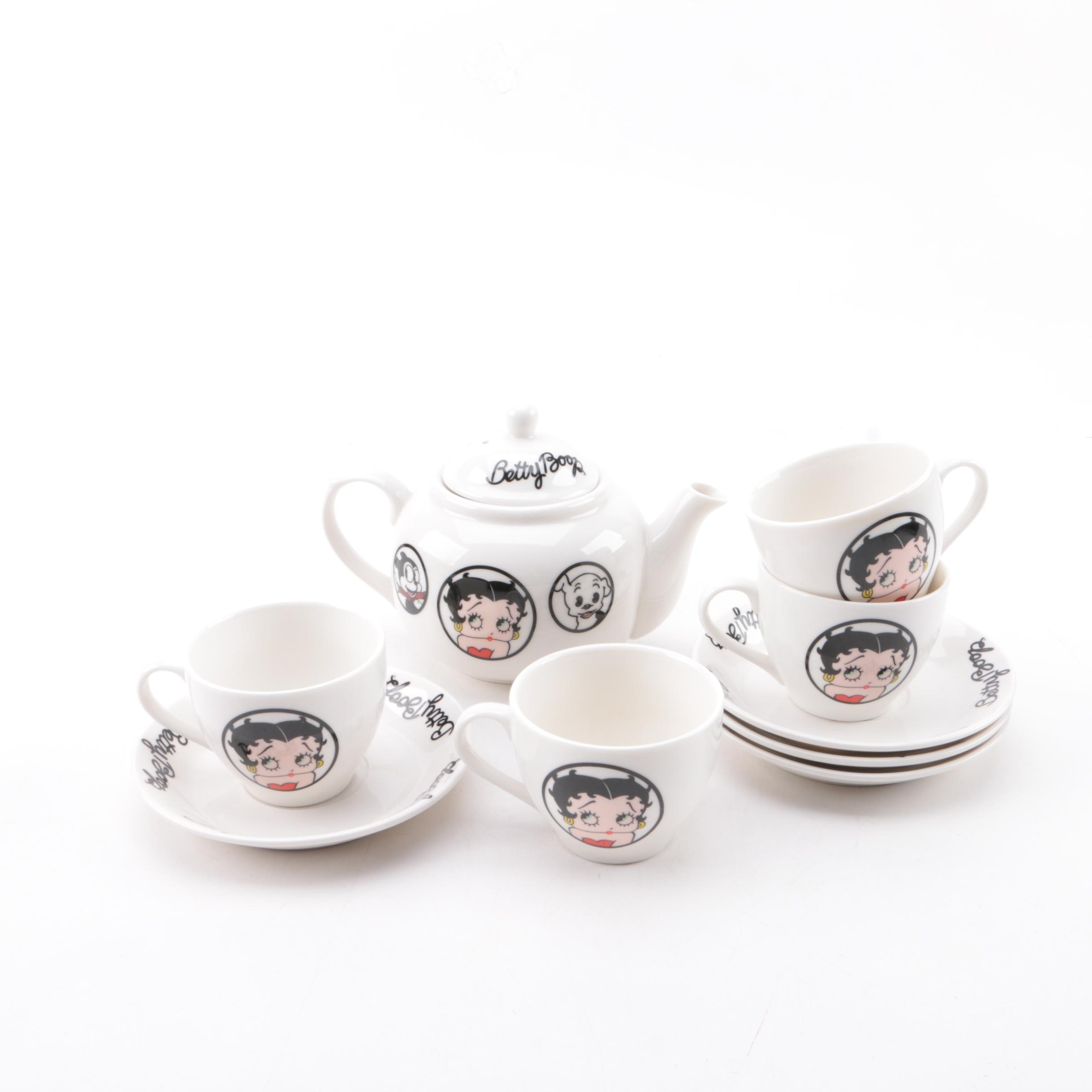 "Bright Ideas ""Betty Boop"" Tea Service"