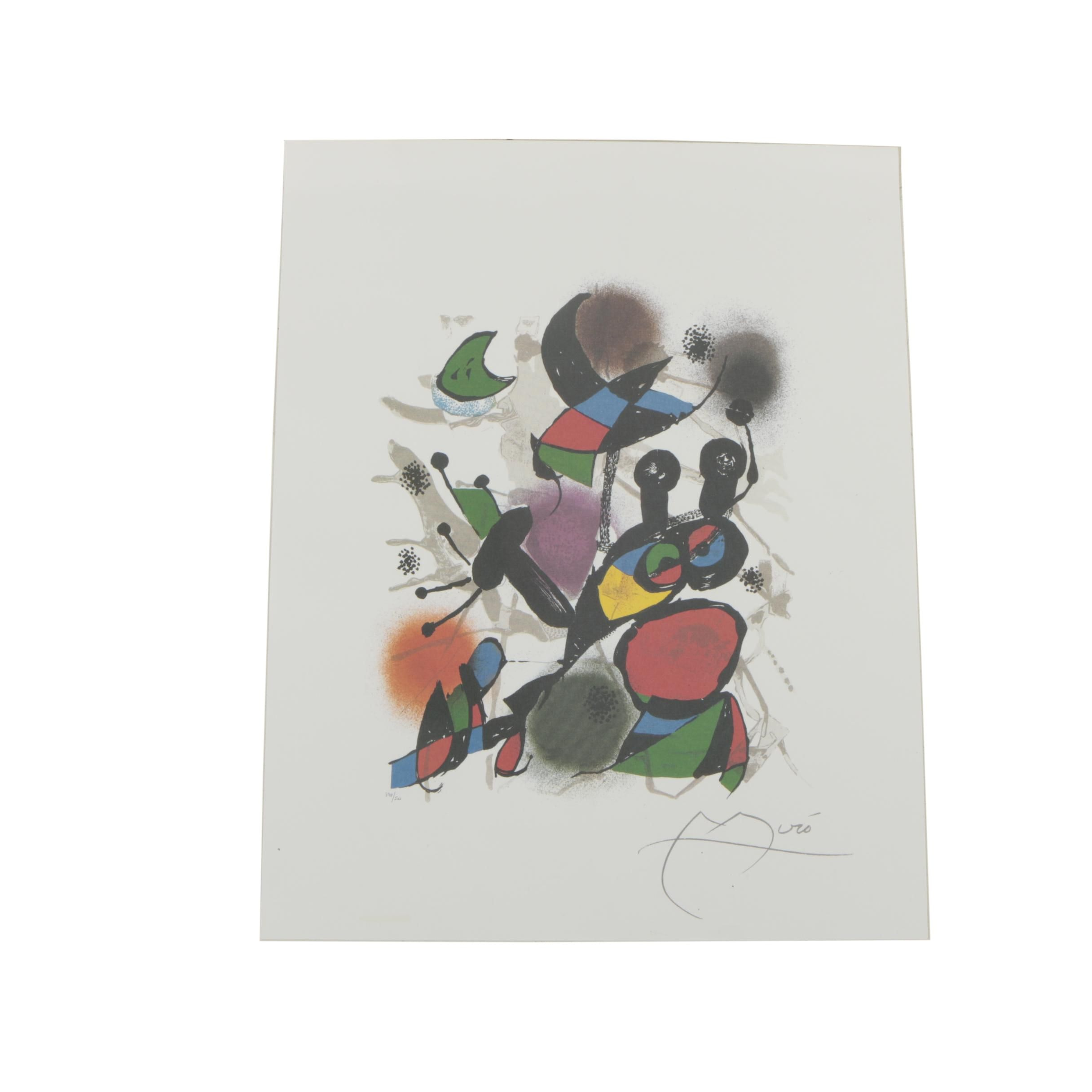 "Limited Edition Offset Lithograph After Joan Miro ""Volume III"""
