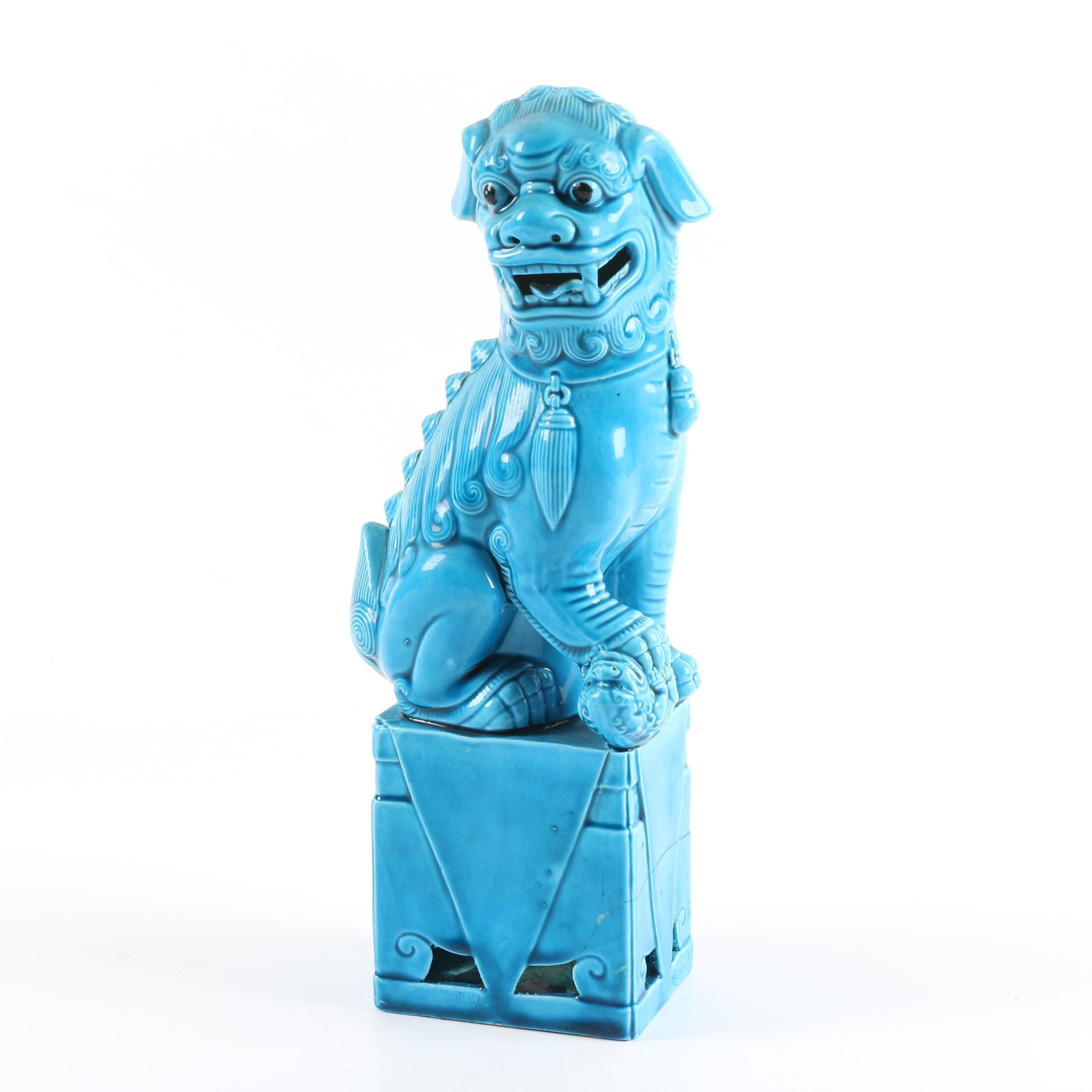 Chinese Guardian Lion Figurine