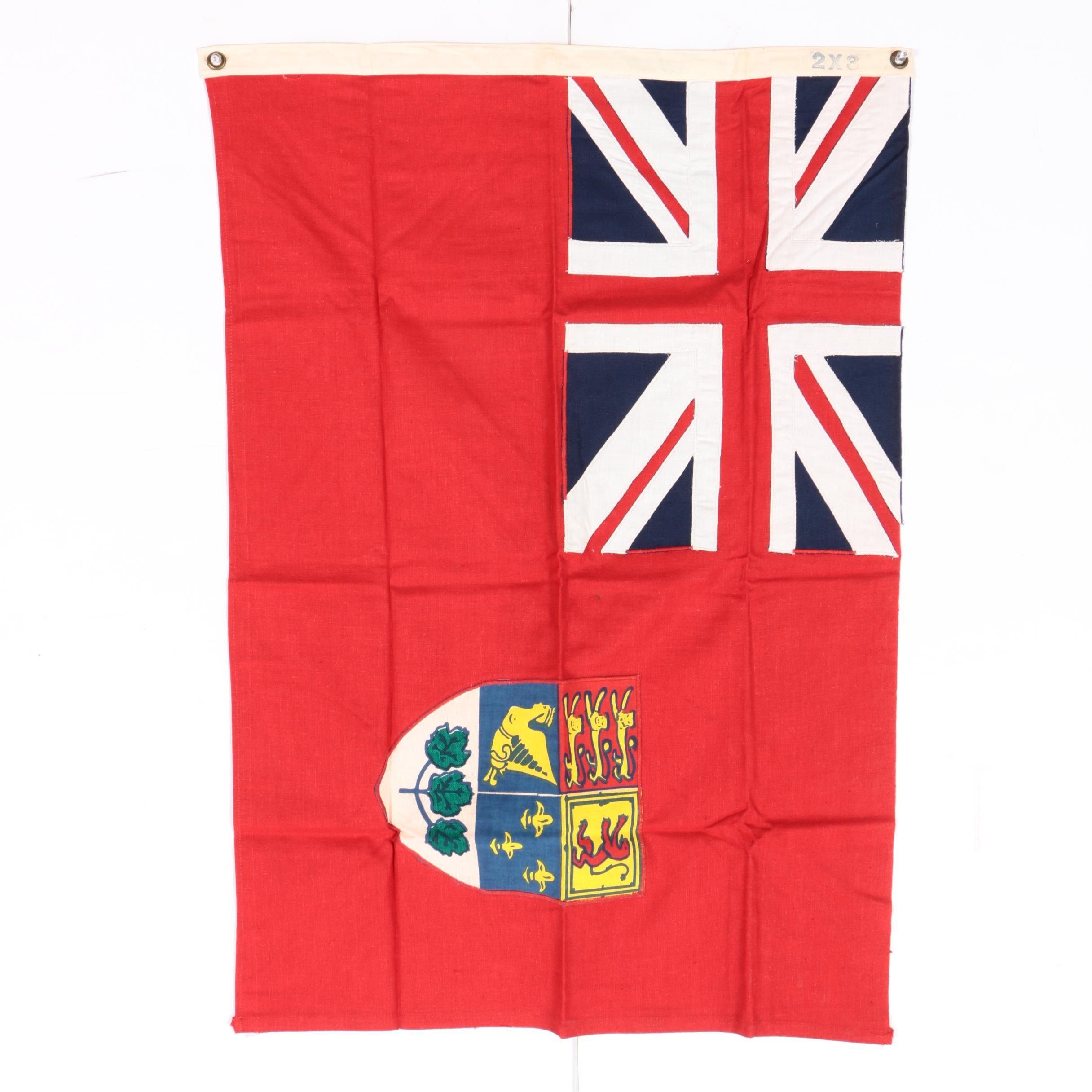Vintage Cloth Canadian Red Ensign Flag