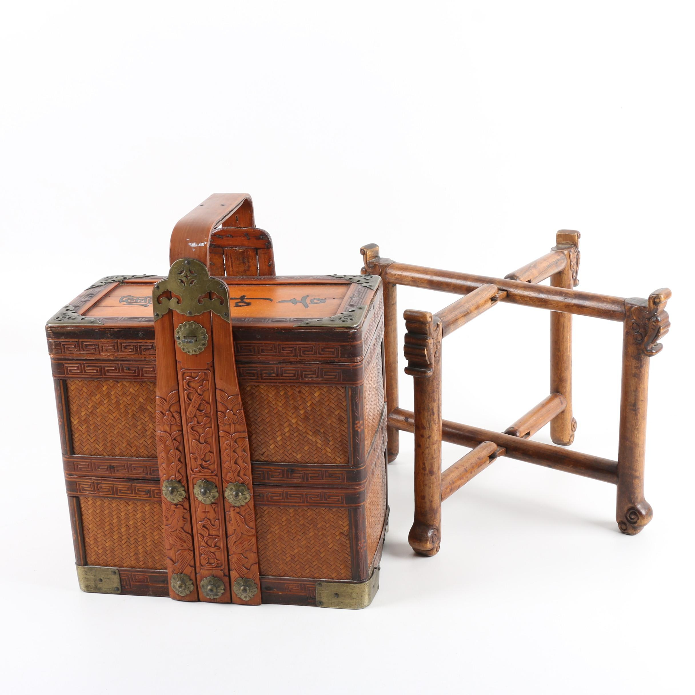 Chinese Wedding Basket and Stand