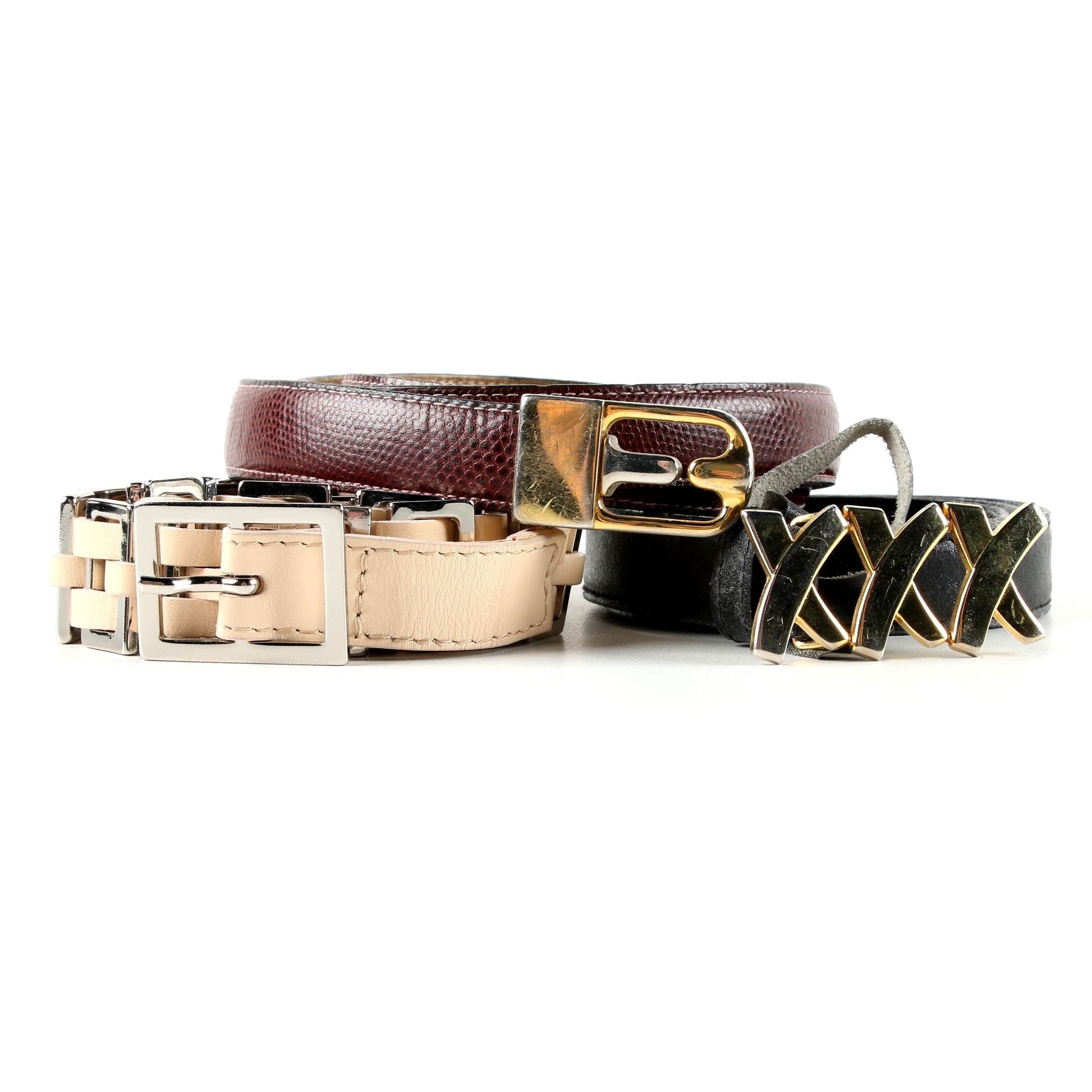 Women's Leather Belts Including Paloma Picasso and Alberta Ferretti
