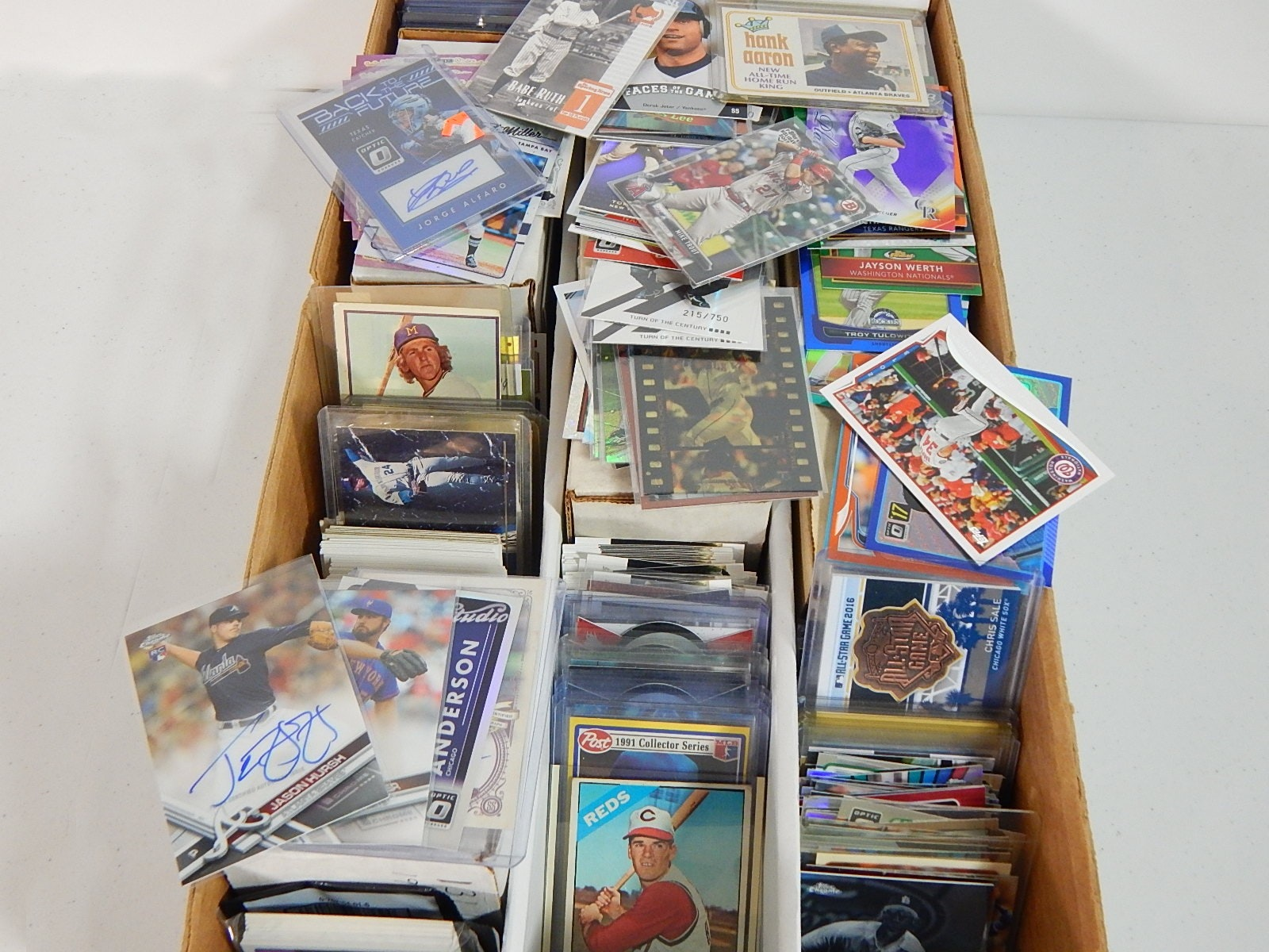 3200 Count Box of Baseball Cards from 1960s through 2000s