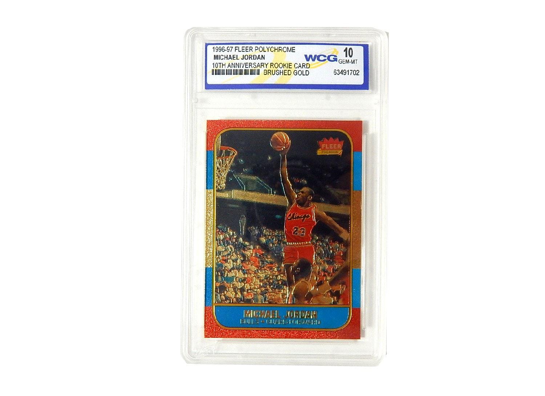 SCG Graded 10 GEM-MT Michael Jordan Rookie 1996/97 Fleer Polychrome Card