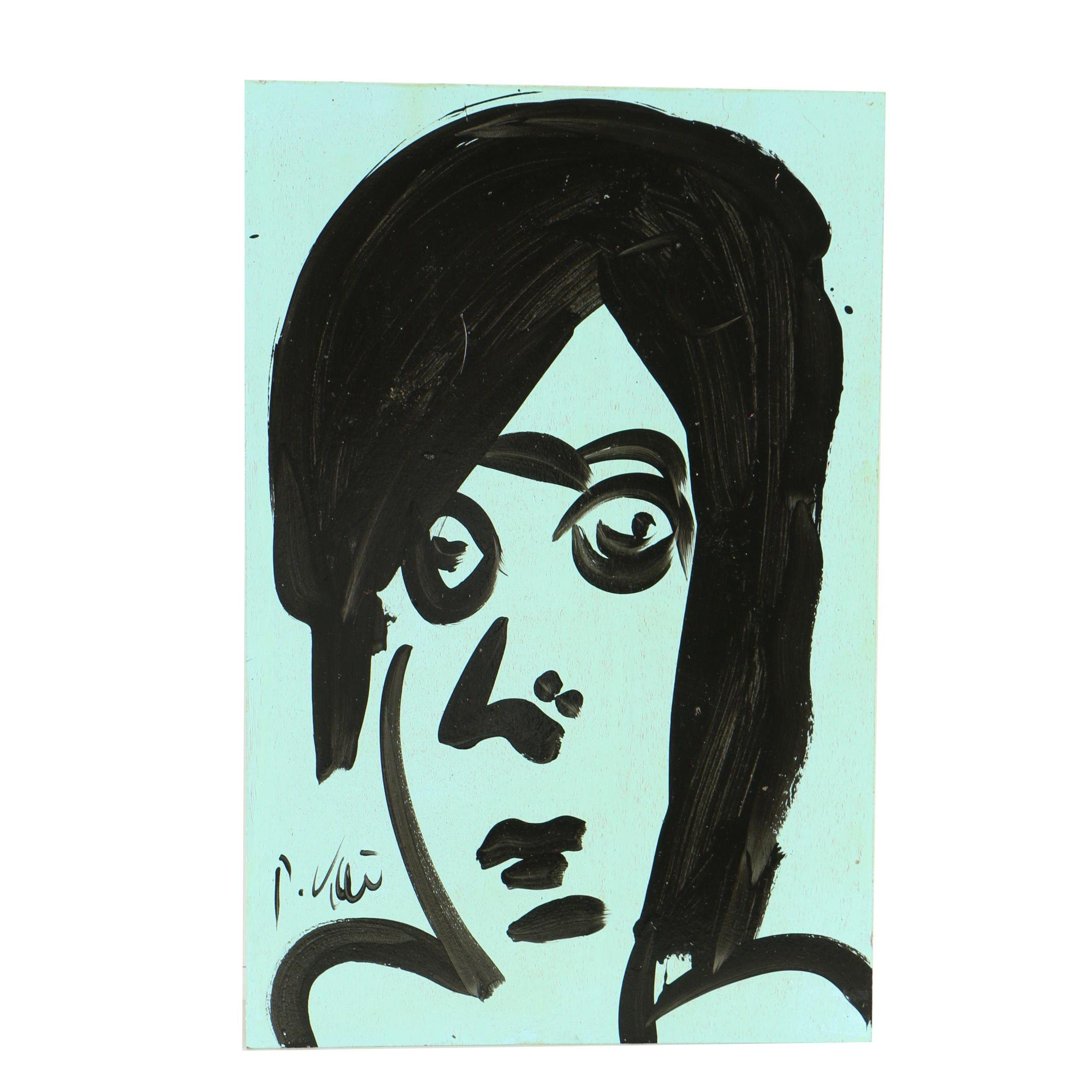 "Peter Keil Oil Painting ""George Harrison"""