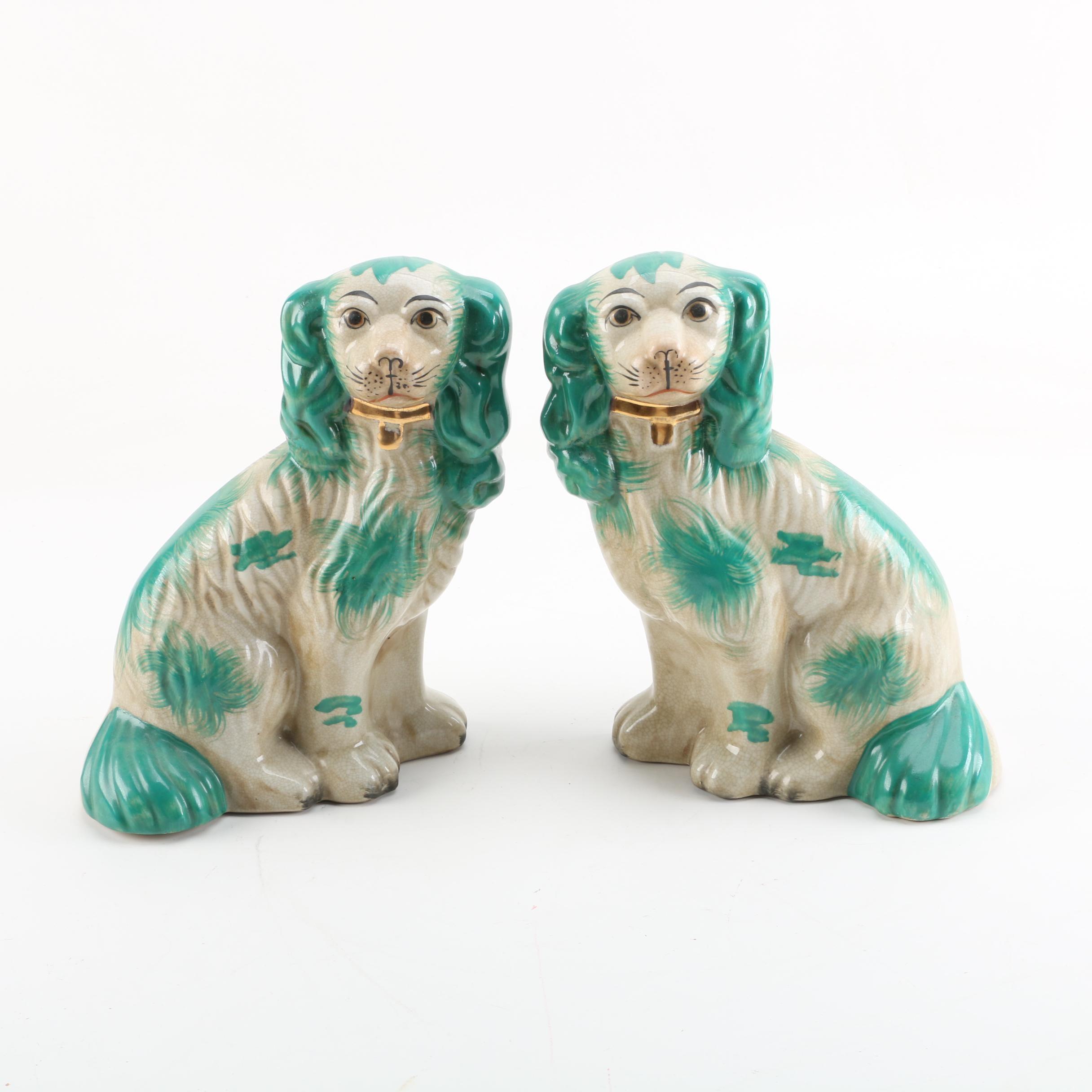 Staffordshire Style Ceramic Dog Figurines