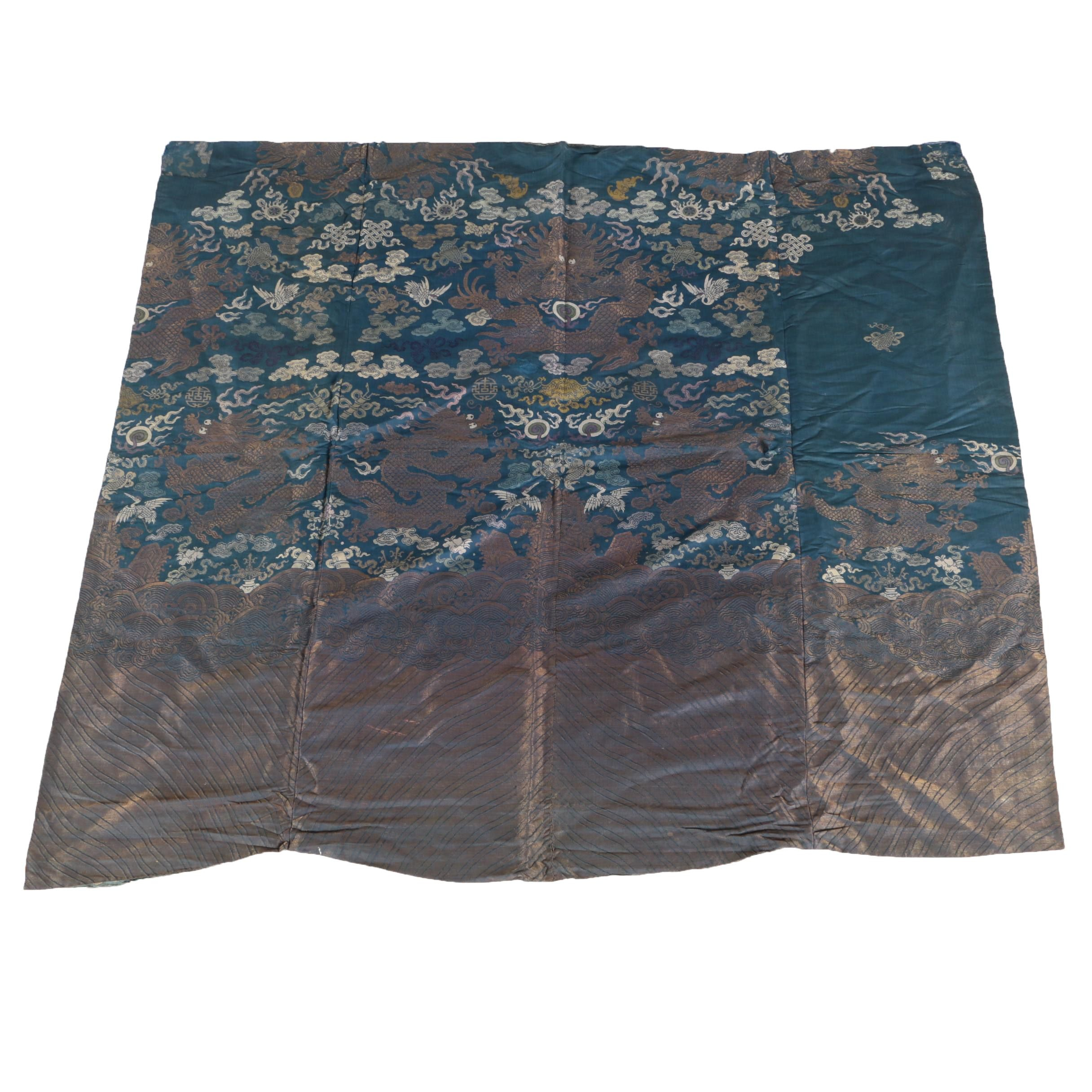 Vintage Chinese Woven Silk Fabric for Jifu Robe